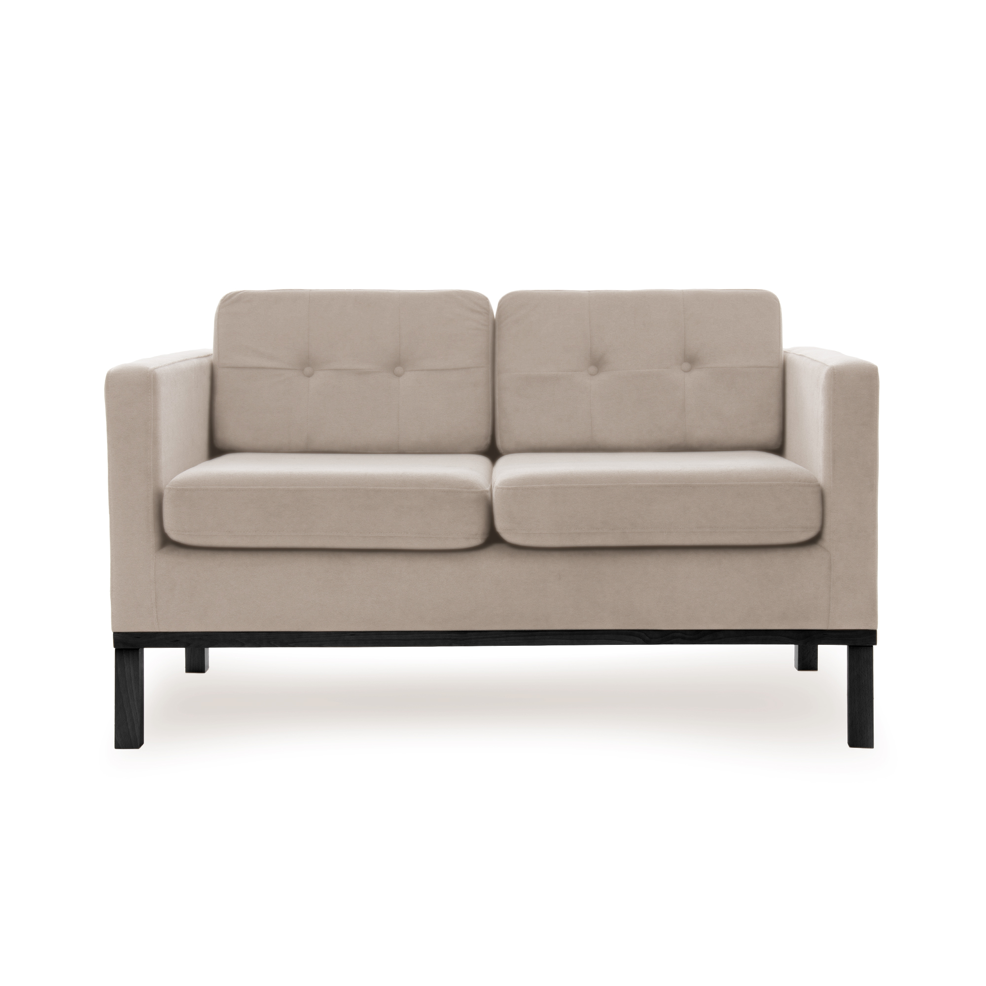 Canapea Fixa 2 locuri Jonan Beige/Black