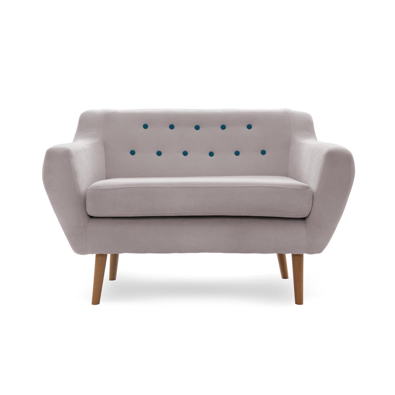 Canapea Fixa 2 Locuri Kelly Grey/natural