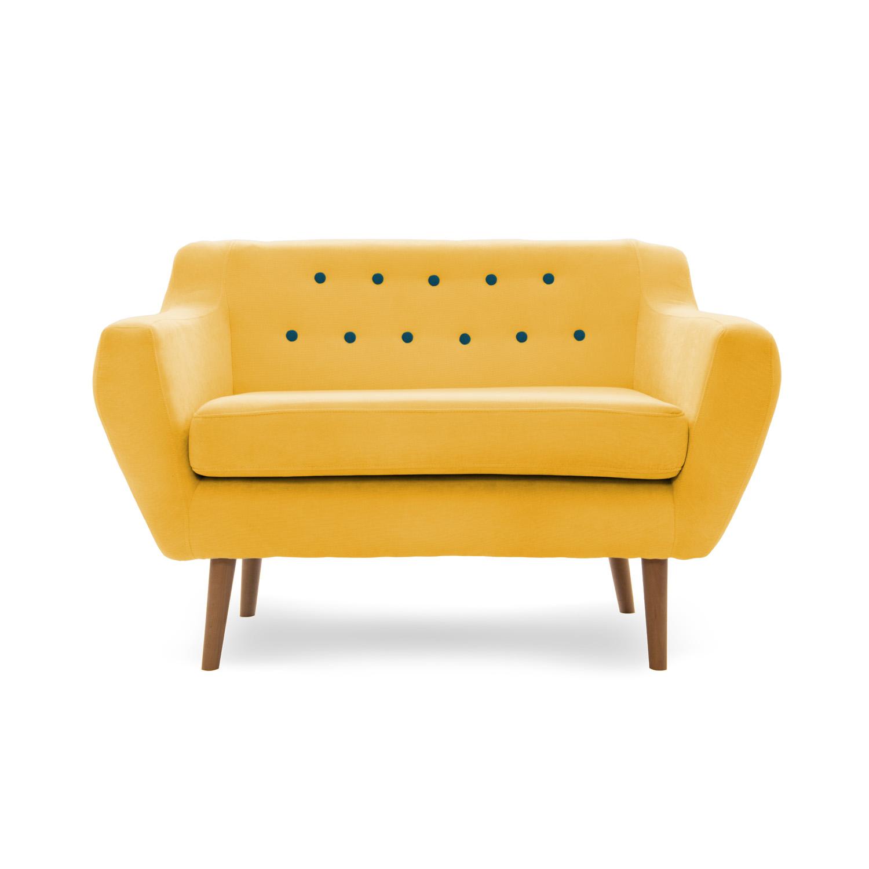 Canapea Fixa 2 Locuri Kelly Yellow/natural