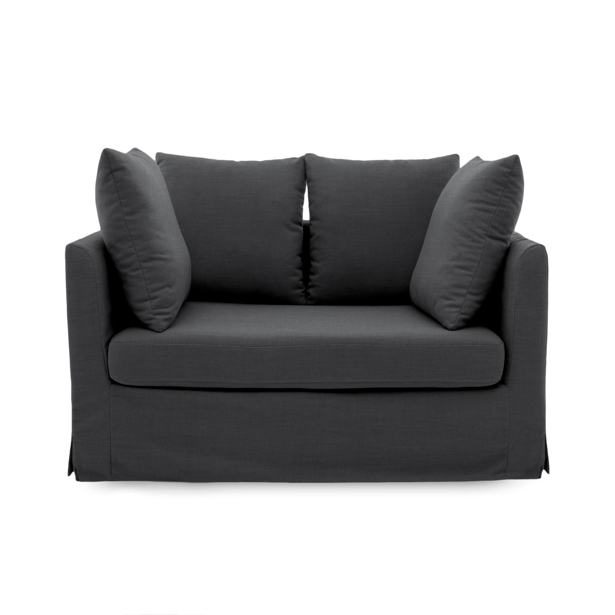 Canapea Fixa 2 locuri Coraly Dark Grey