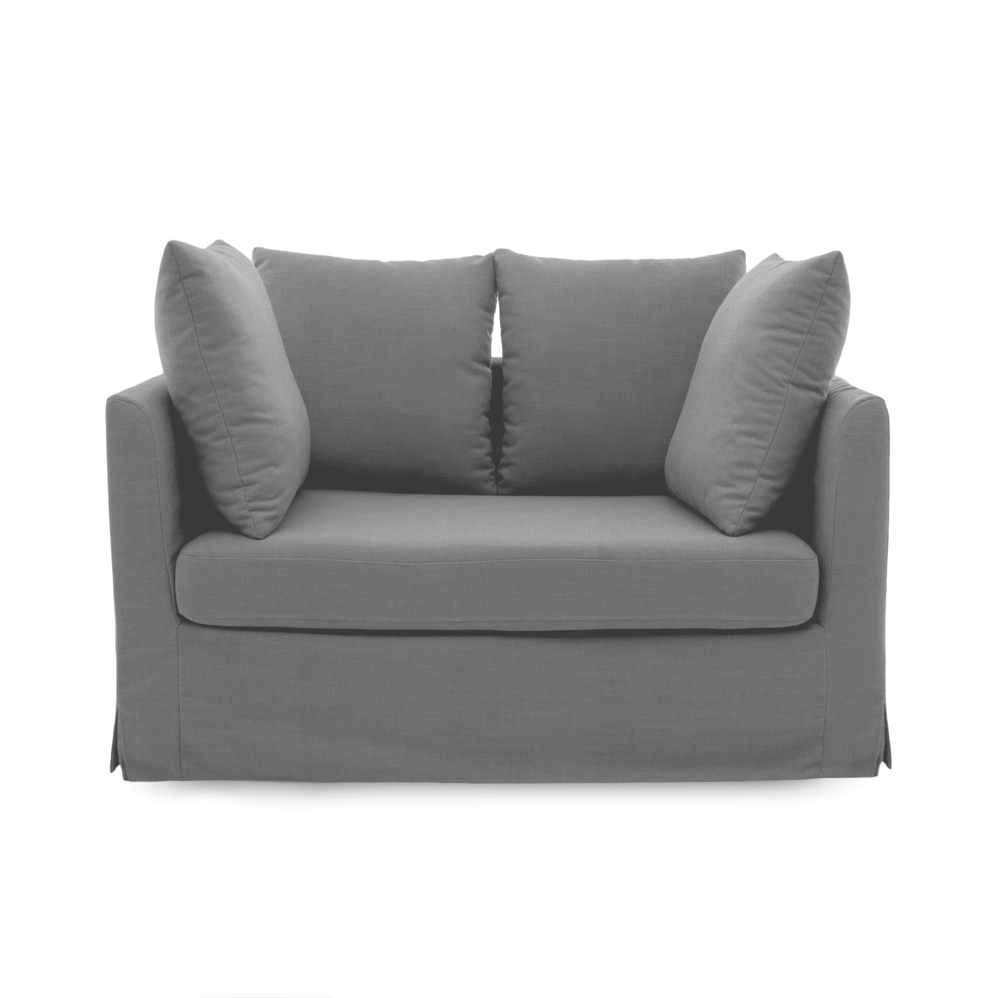 Canapea Fixa 2 locuri Coraly Light Grey