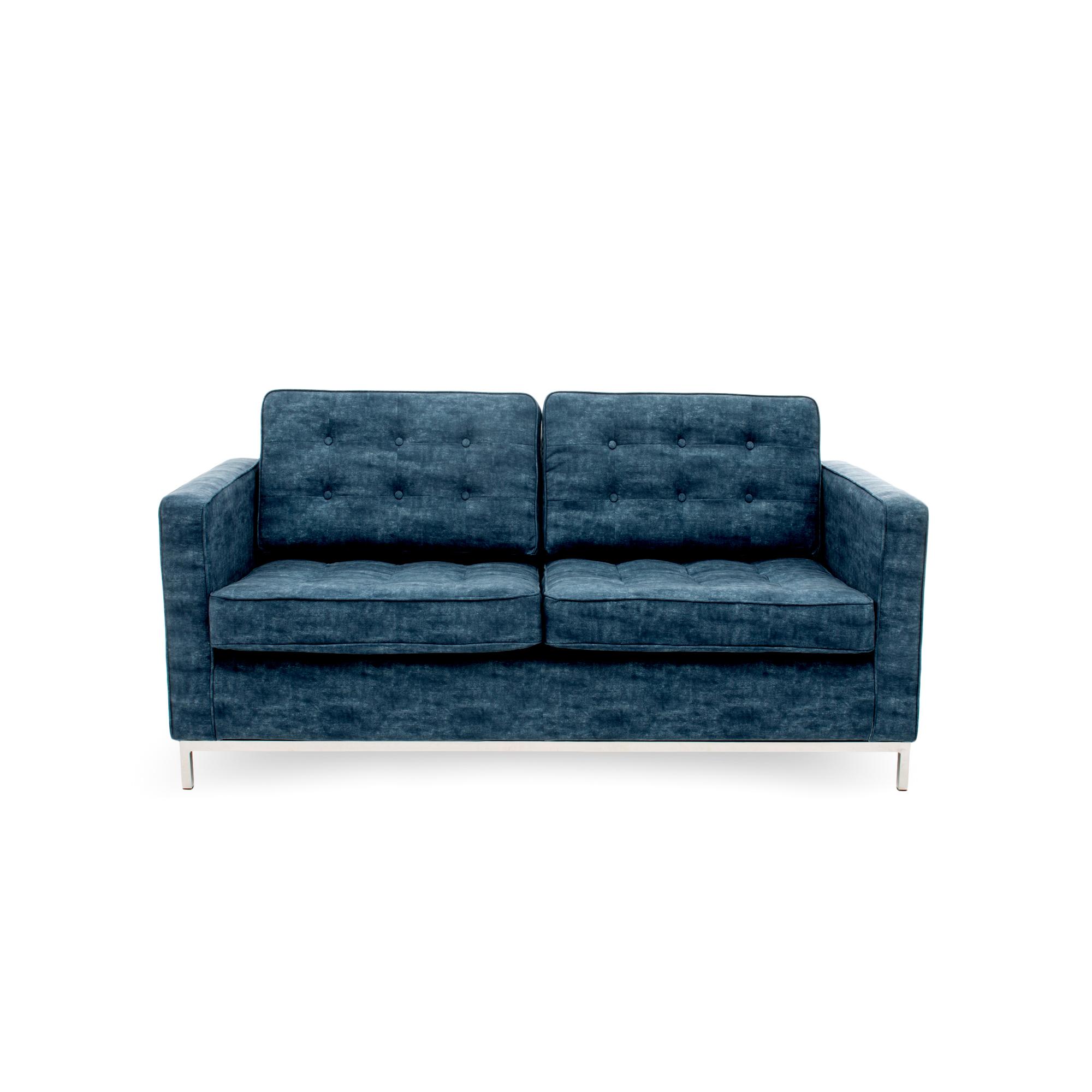 Canapea Fixa 2 locuri Ben Dark Blue