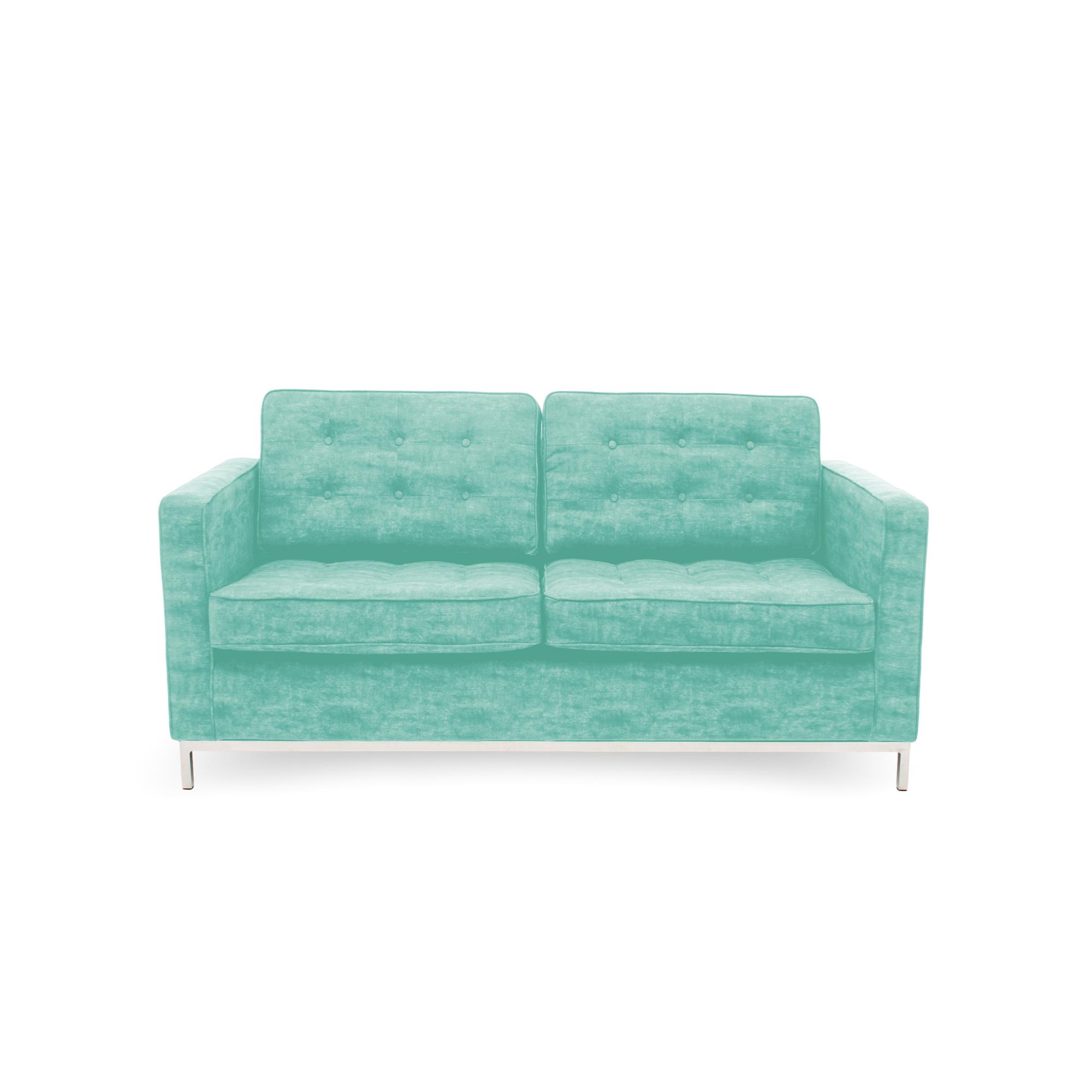 Canapea Fixa 2 locuri Ben Turquoise