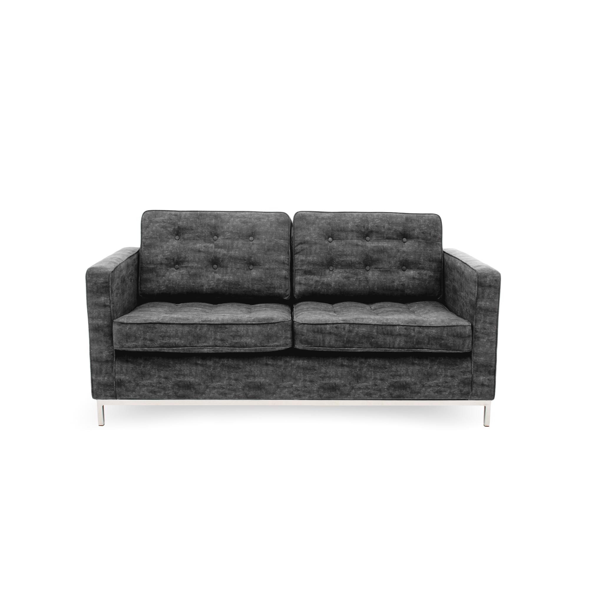 Canapea Fixa 2 locuri Ben Dark Grey