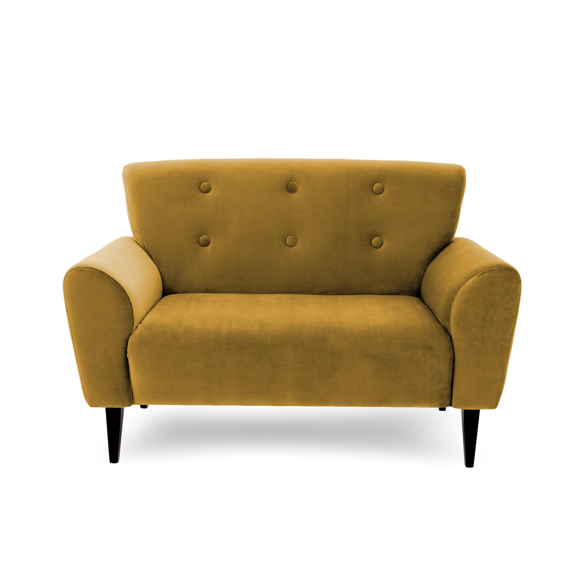 Canapea Fixa 2 locuri Kiara Mustard