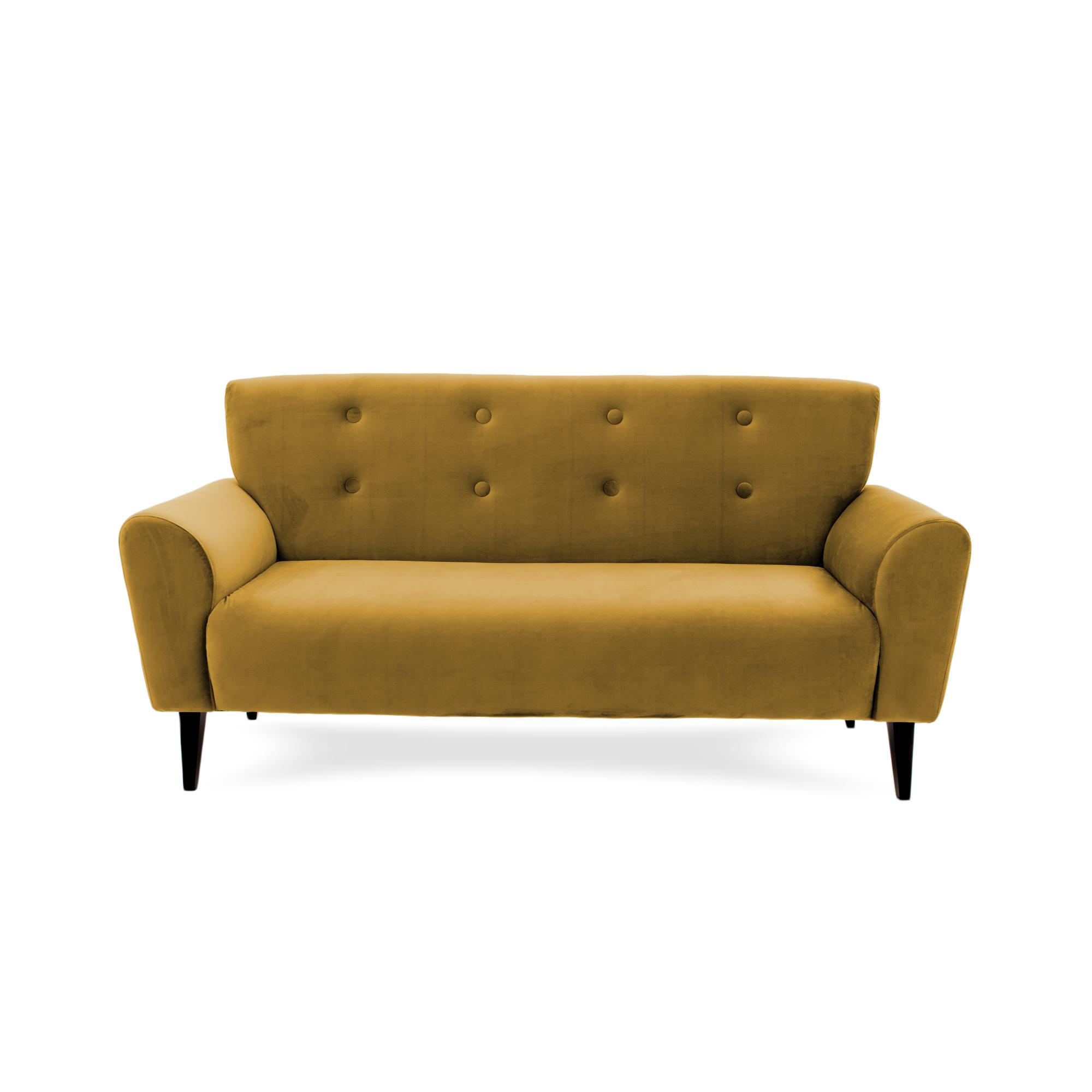Canapea Fixa 3 locuri Kiara Mustard