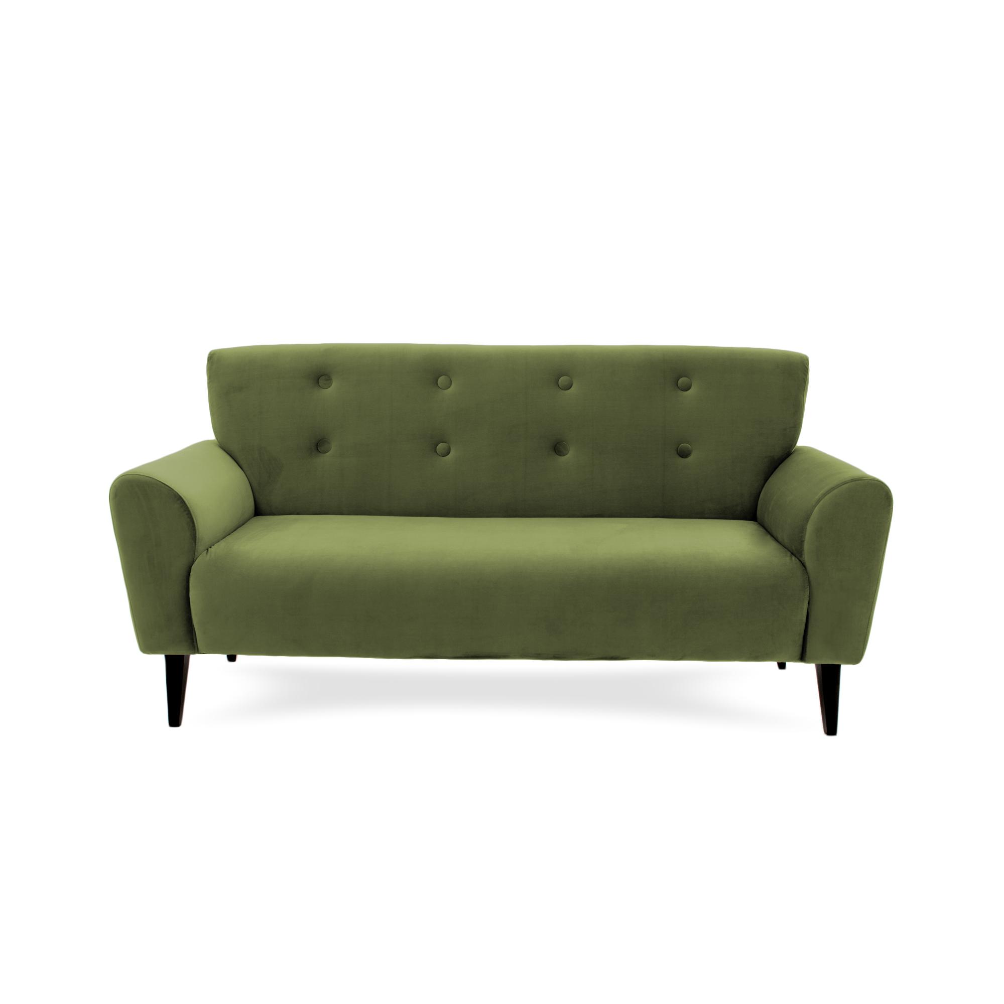 Canapea Fixa 3 Locuri Kiara Olive Green