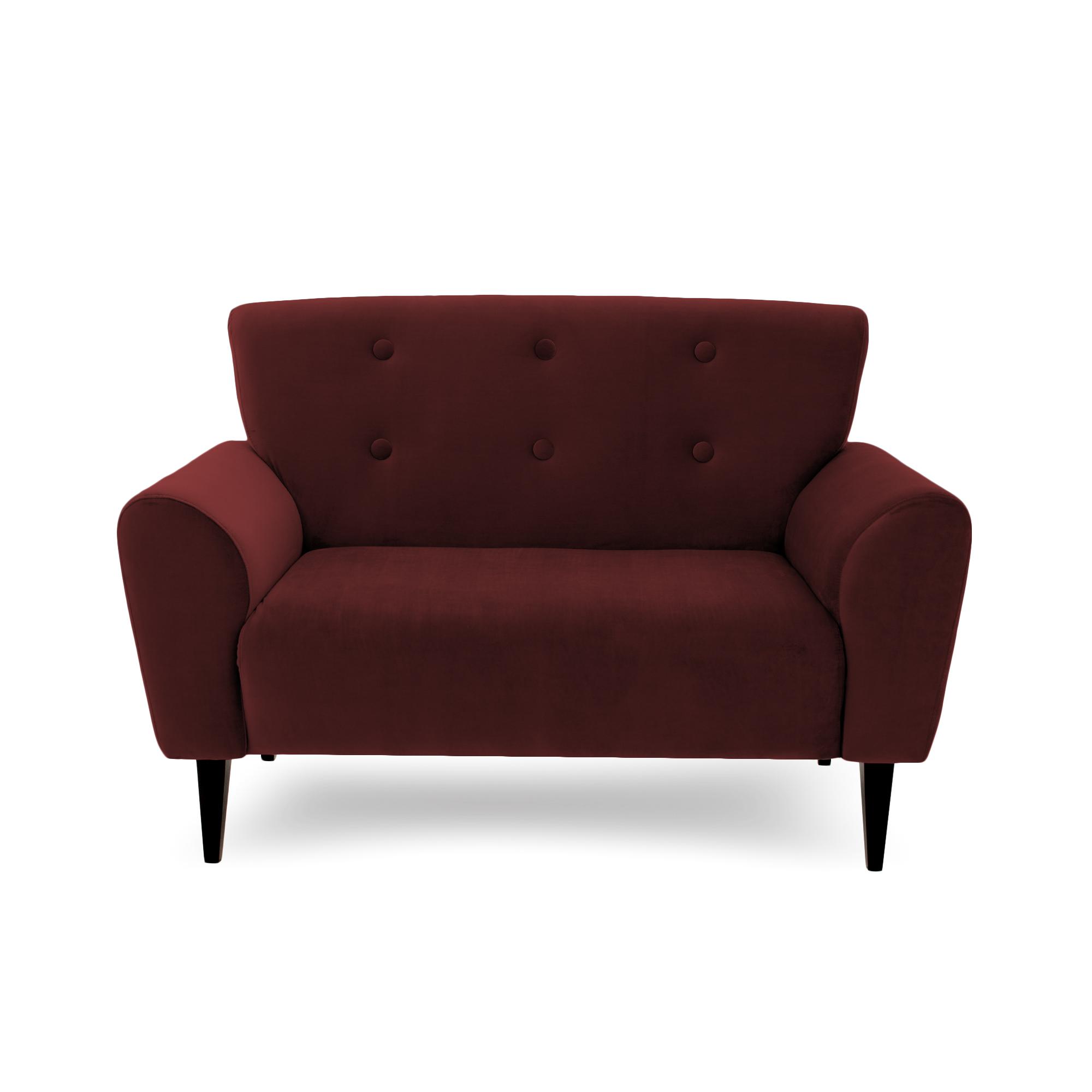 Canapea Fixa 2 locuri Kiara Burgundy Red