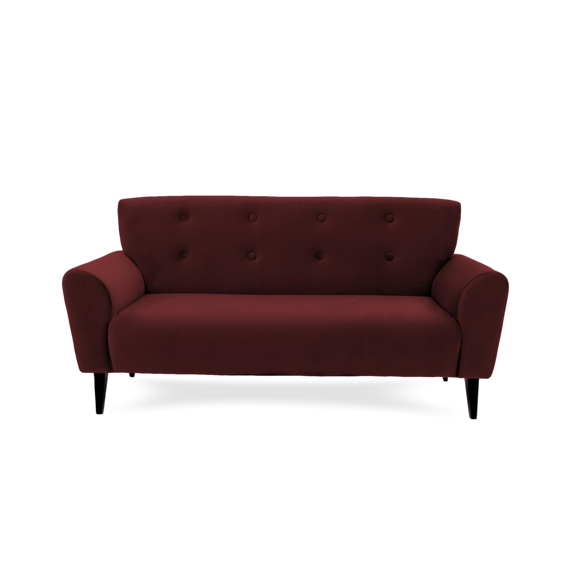 Canapea Fixa 3 locuri Kiara Burgundy Red