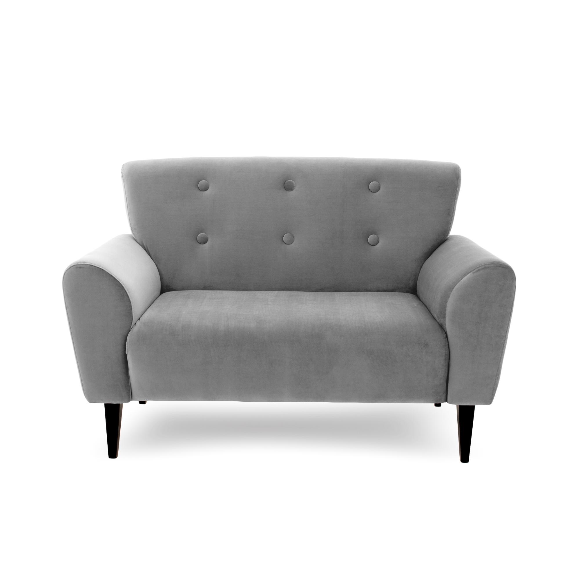 Canapea Fixa 2 locuri Kiara Silver