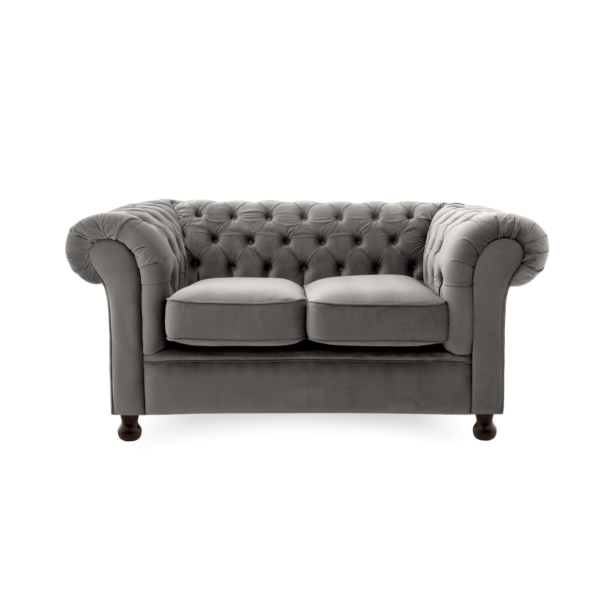 Canapea Fixa 2 locuri Chesterfield Silver