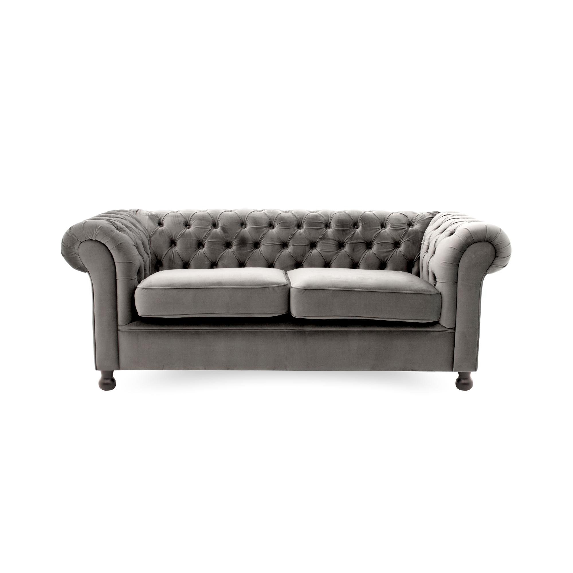 Canapea Fixa 3 locuri Chesterfield Silver
