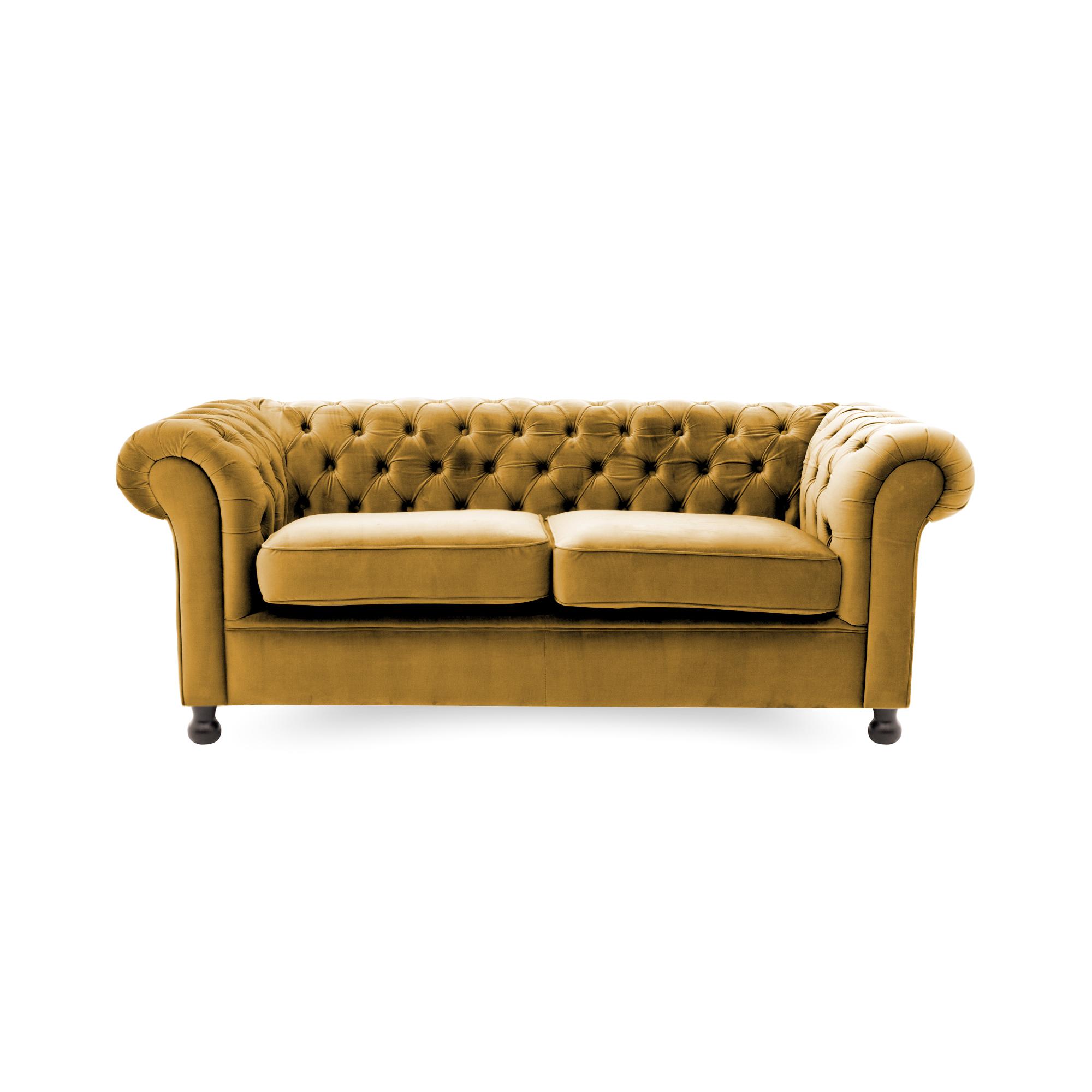 Canapea Fixa 3 locuri Chesterfield Mustard