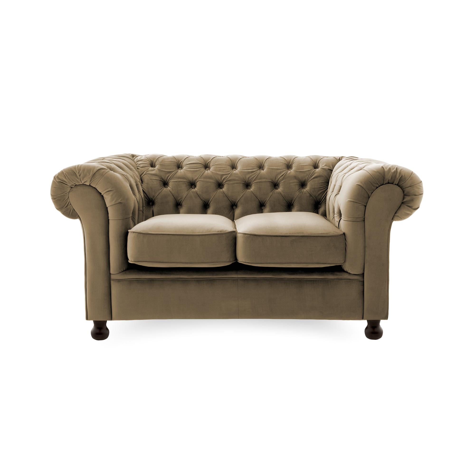 Canapea Fixa 2 locuri Chesterfield Taupe