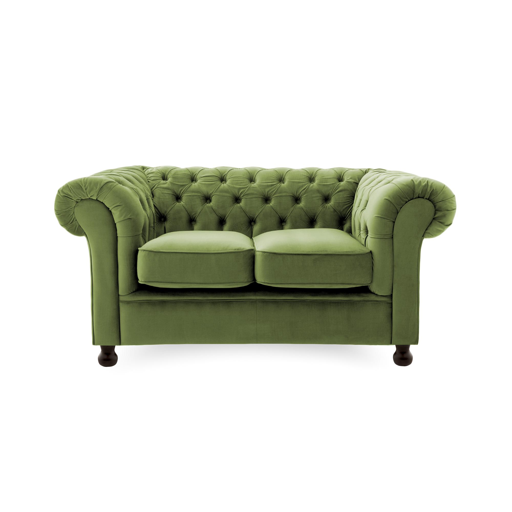 Canapea Fixa 2 locuri Chesterfield Olive Green