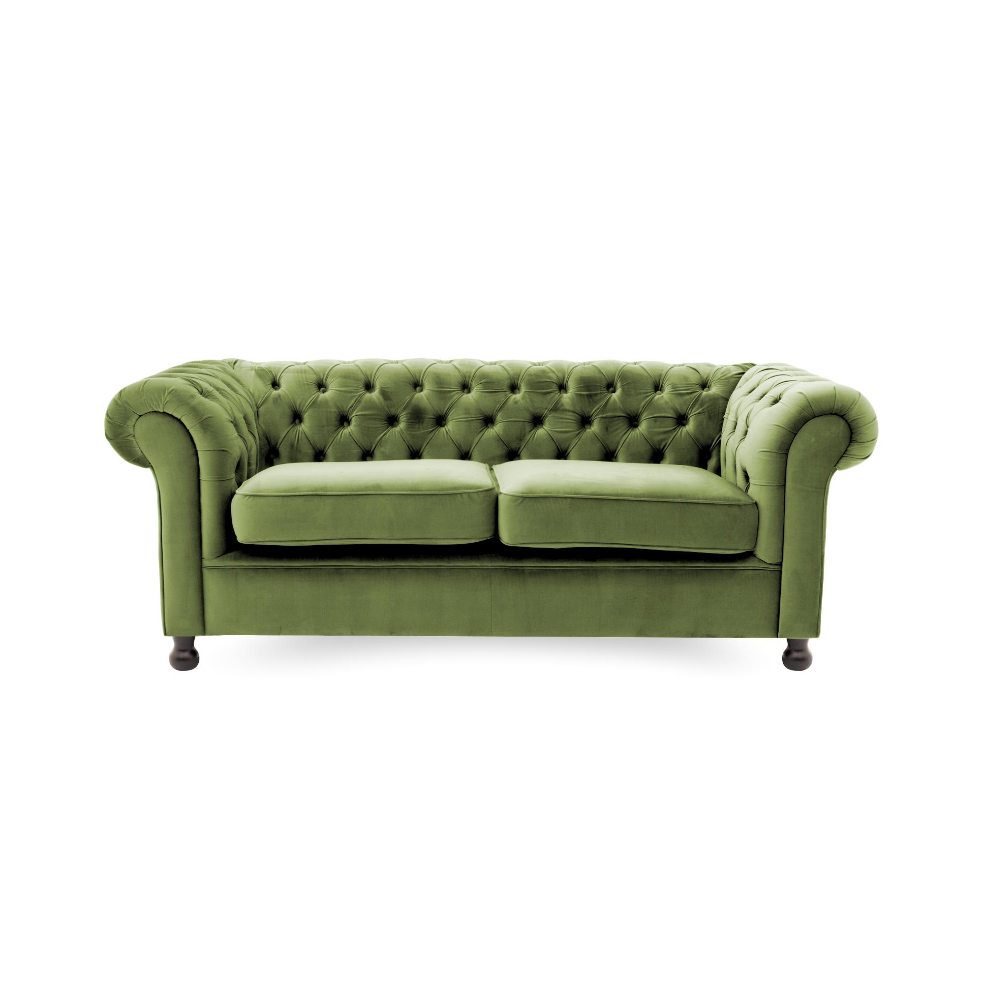 Canapea Fixa 3 locuri Chesterfield Olive Green