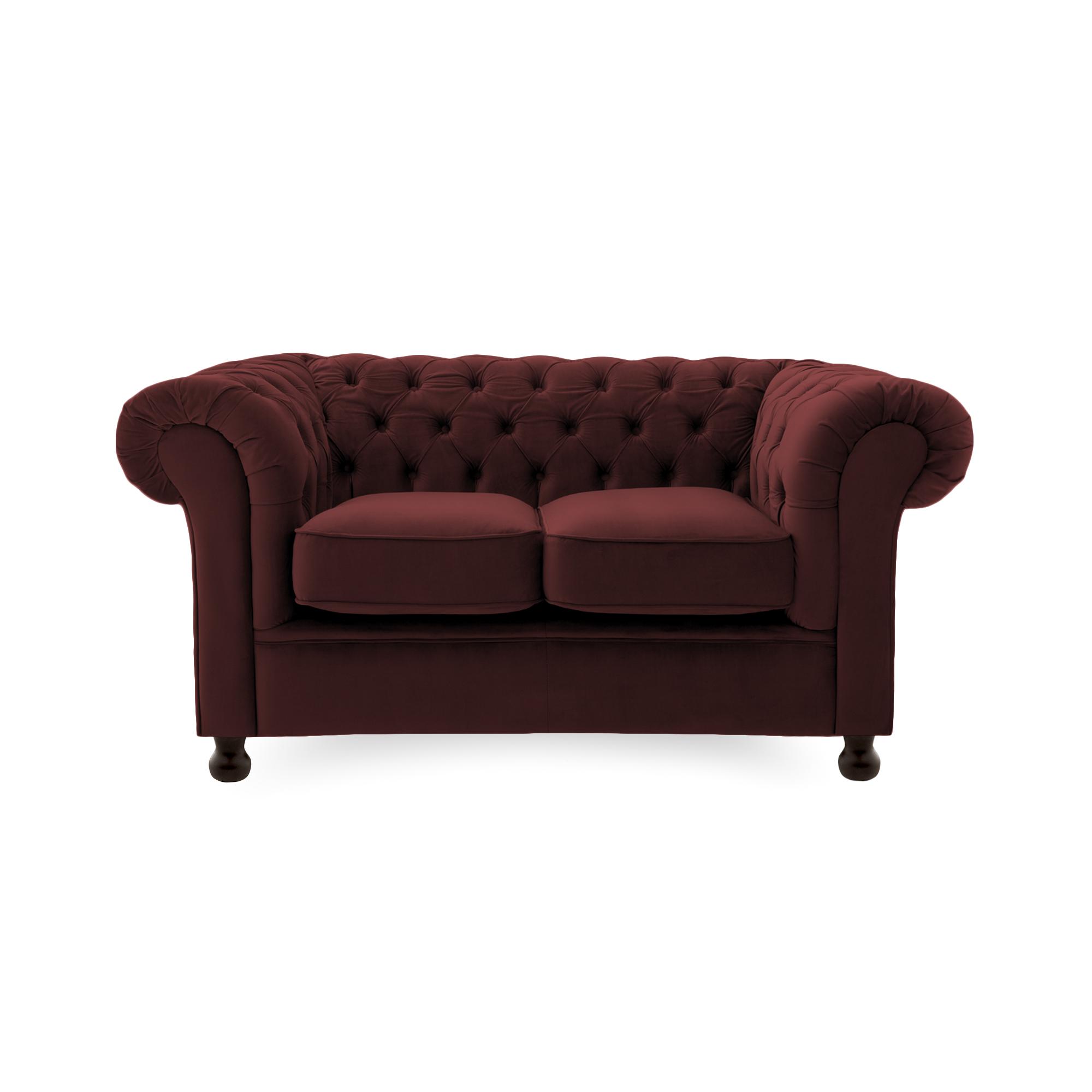 Canapea Fixa 2 locuri Chesterfield Burgundy Red
