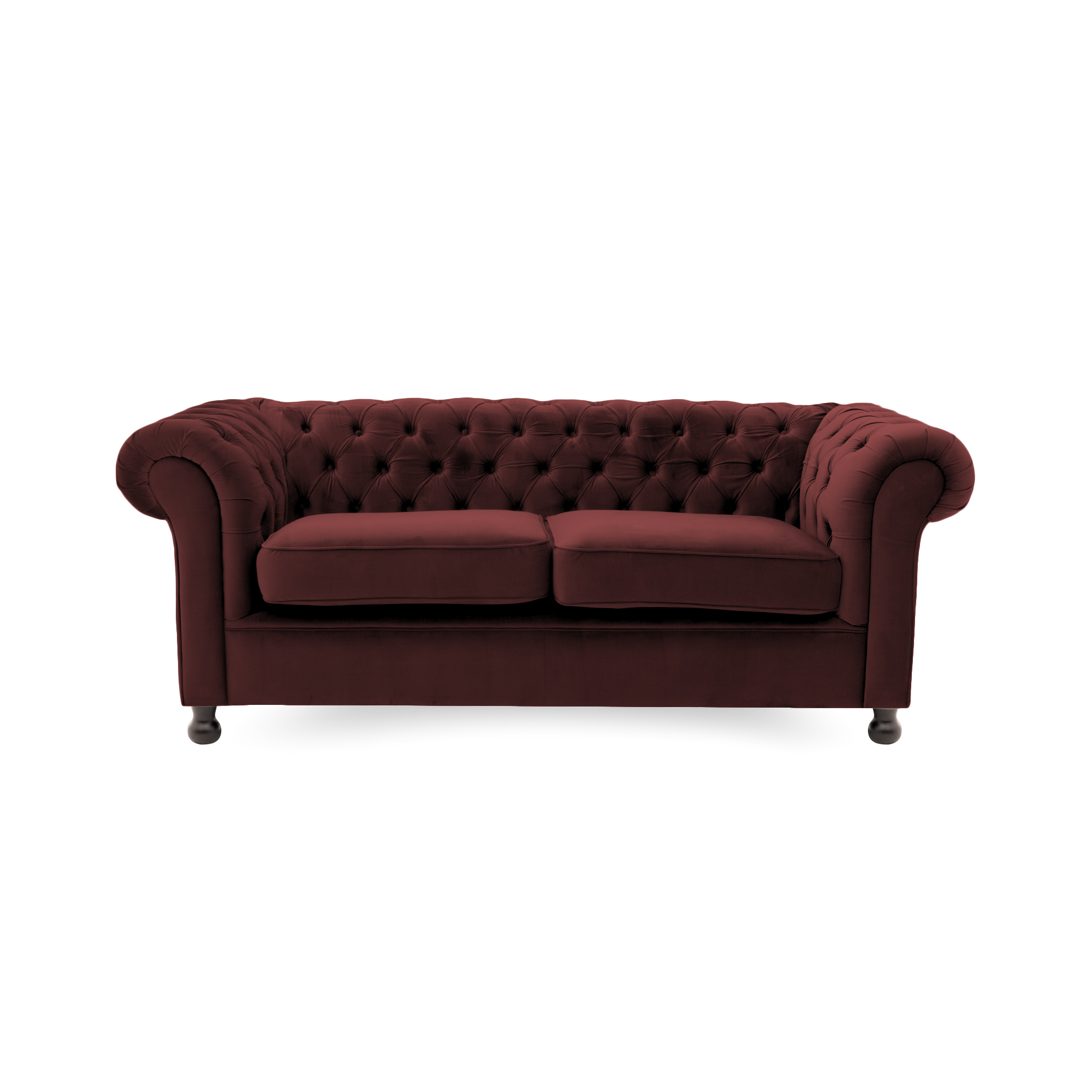 Canapea Fixa 3 locuri Chesterfield Burgundy Red
