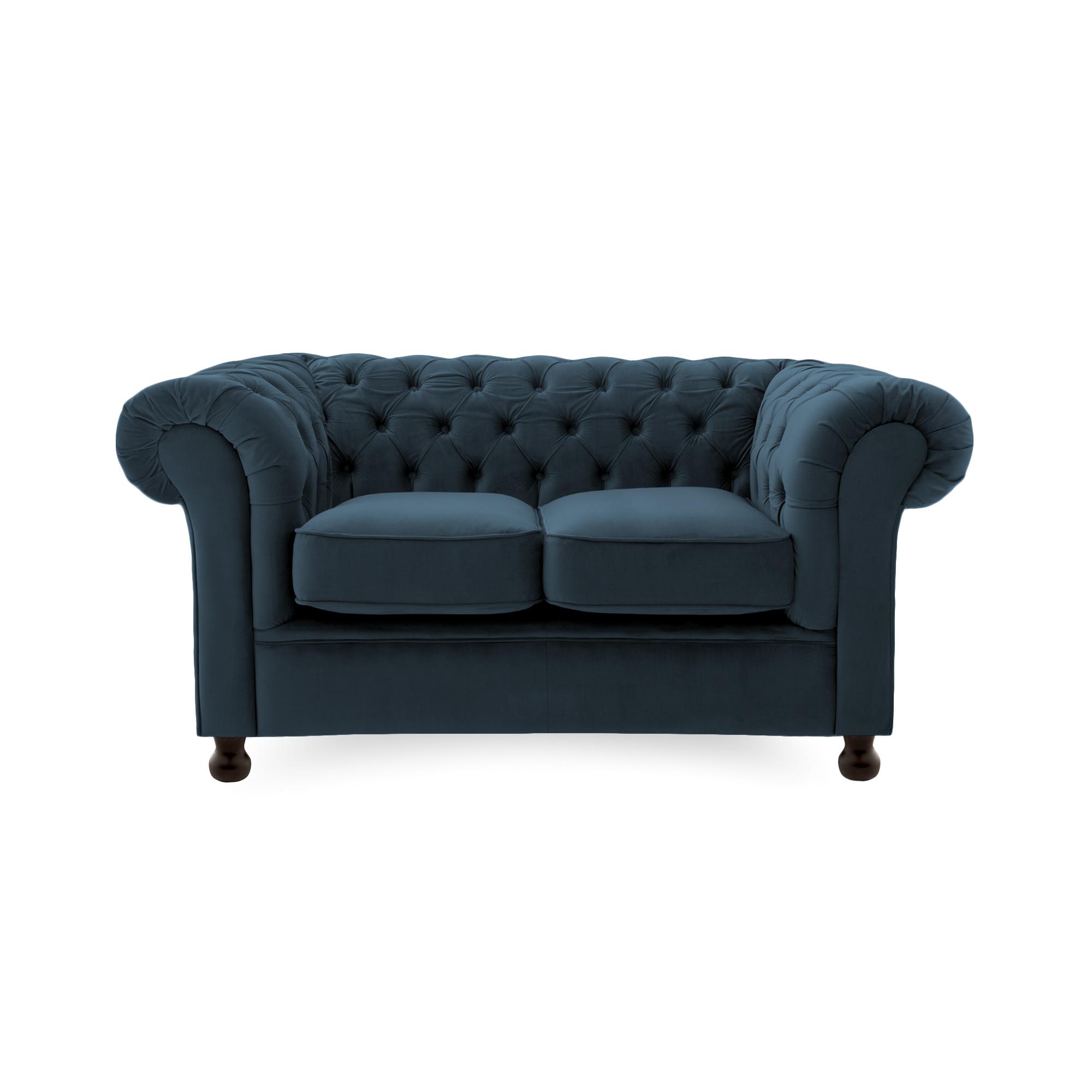 Canapea Fixa 2 locuri Chesterfield Marine Blue