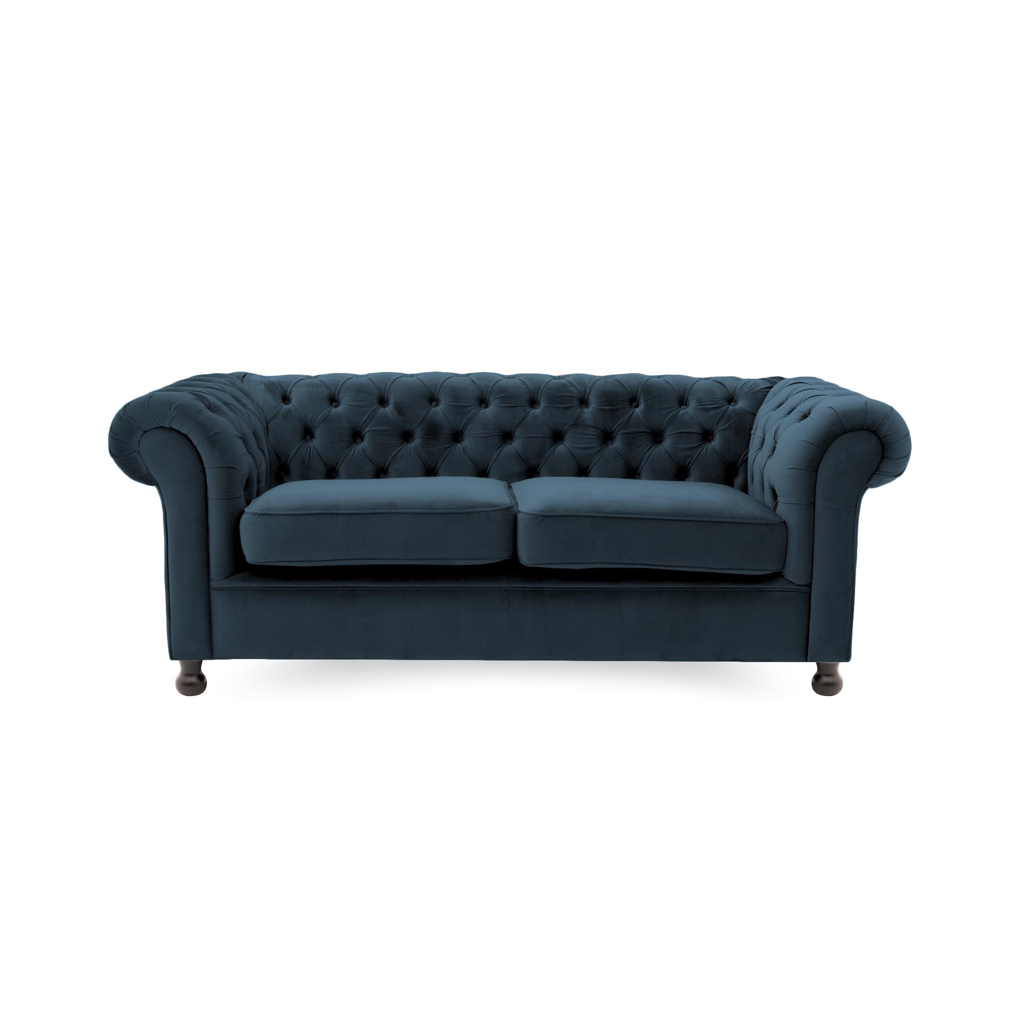 Canapea Fixa 3 locuri Chesterfield Marine Blue