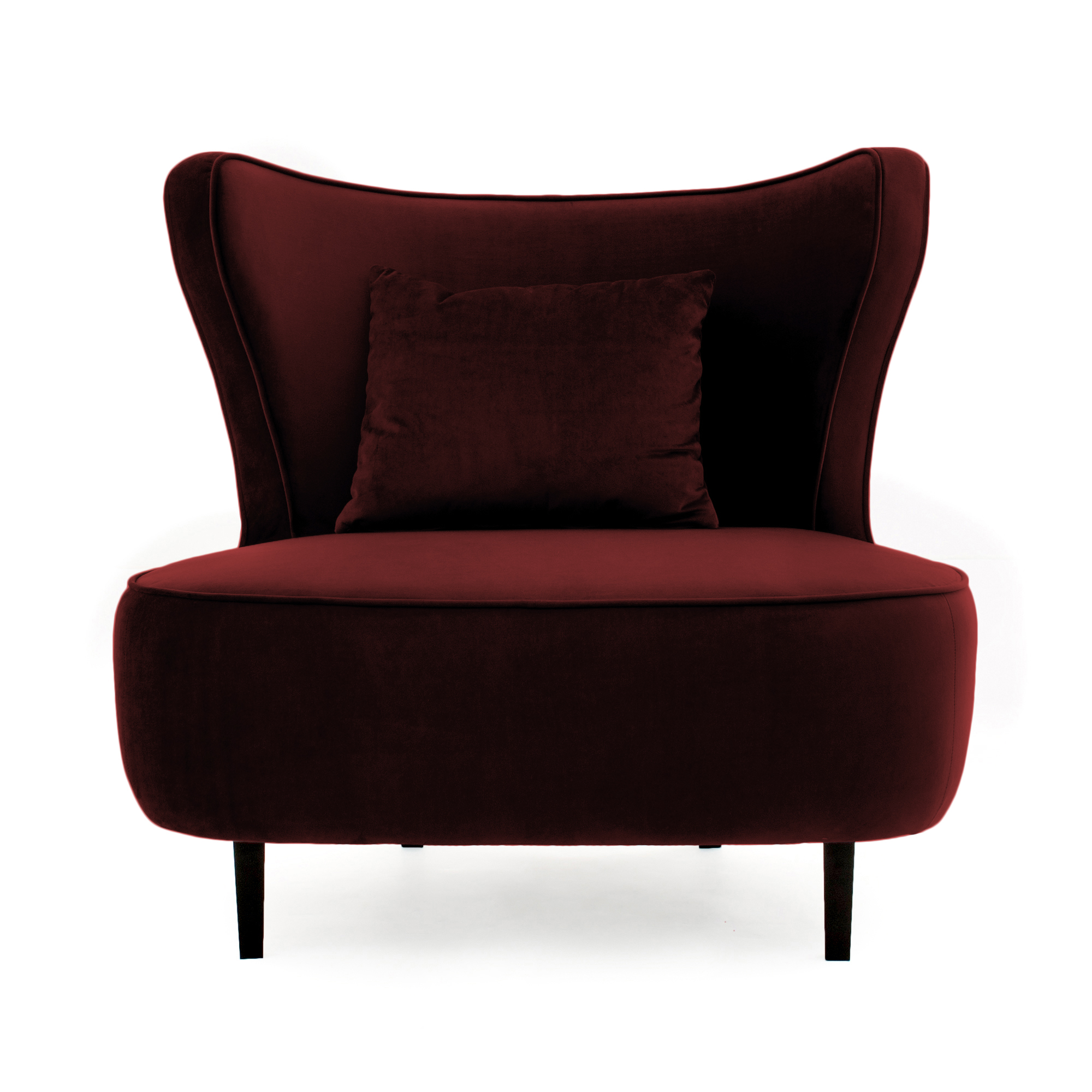 Fotoliu Douglas Love Burgundy Red