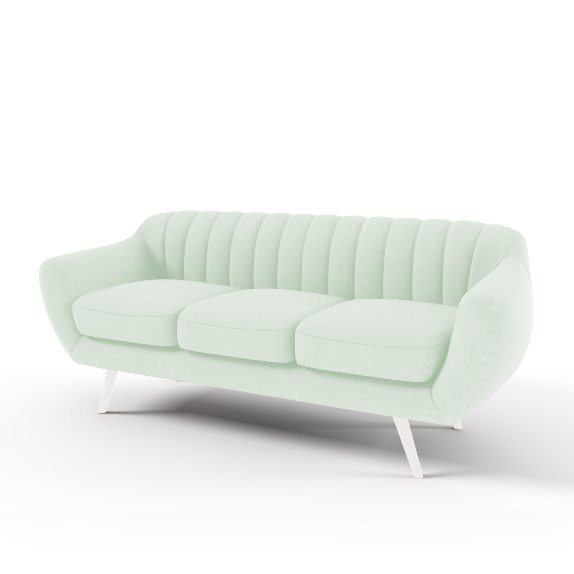 Canapea Fixa 3 locuri Kennet Pastel Green
