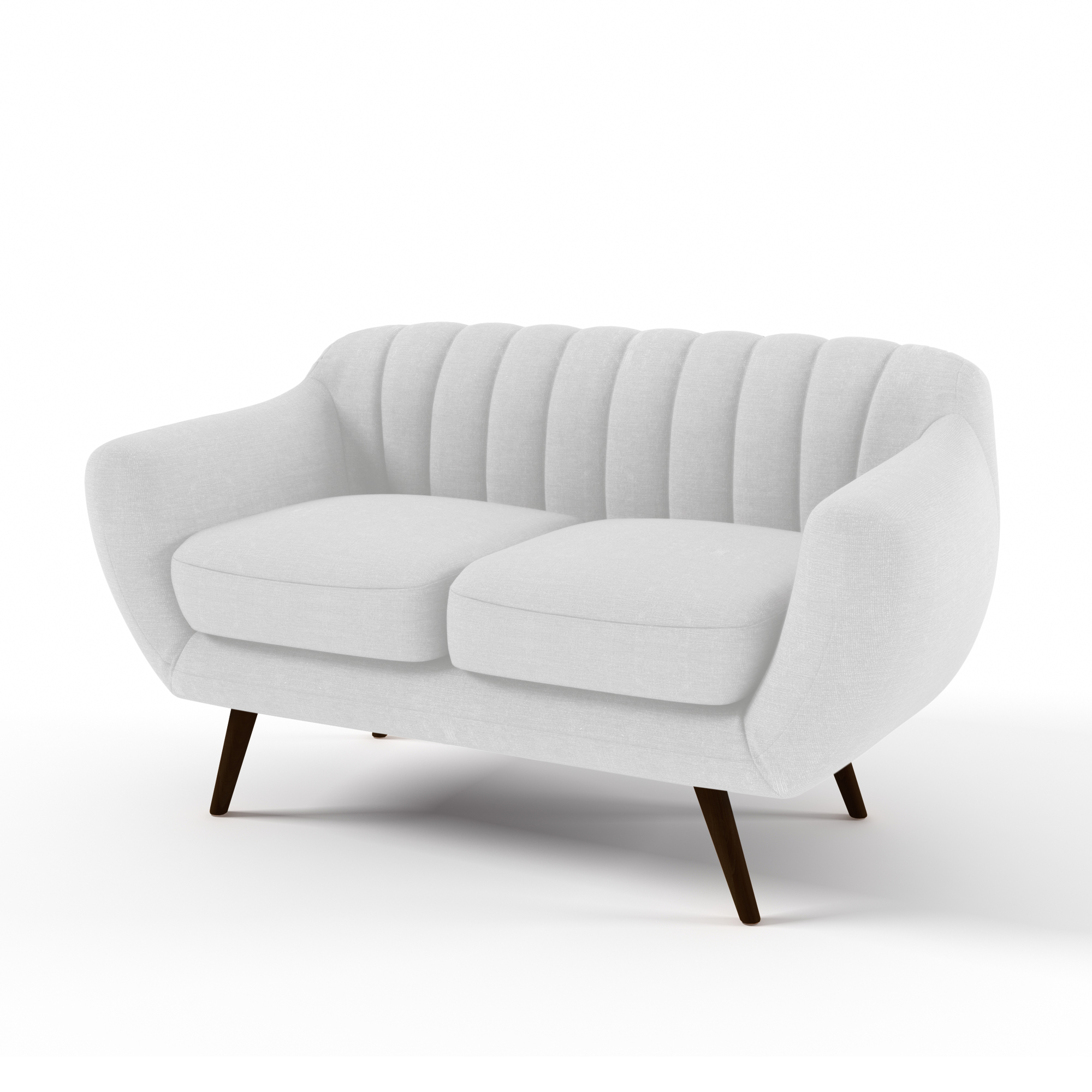 Canapea Fixa 2 locuri Kennet Pastel Grey
