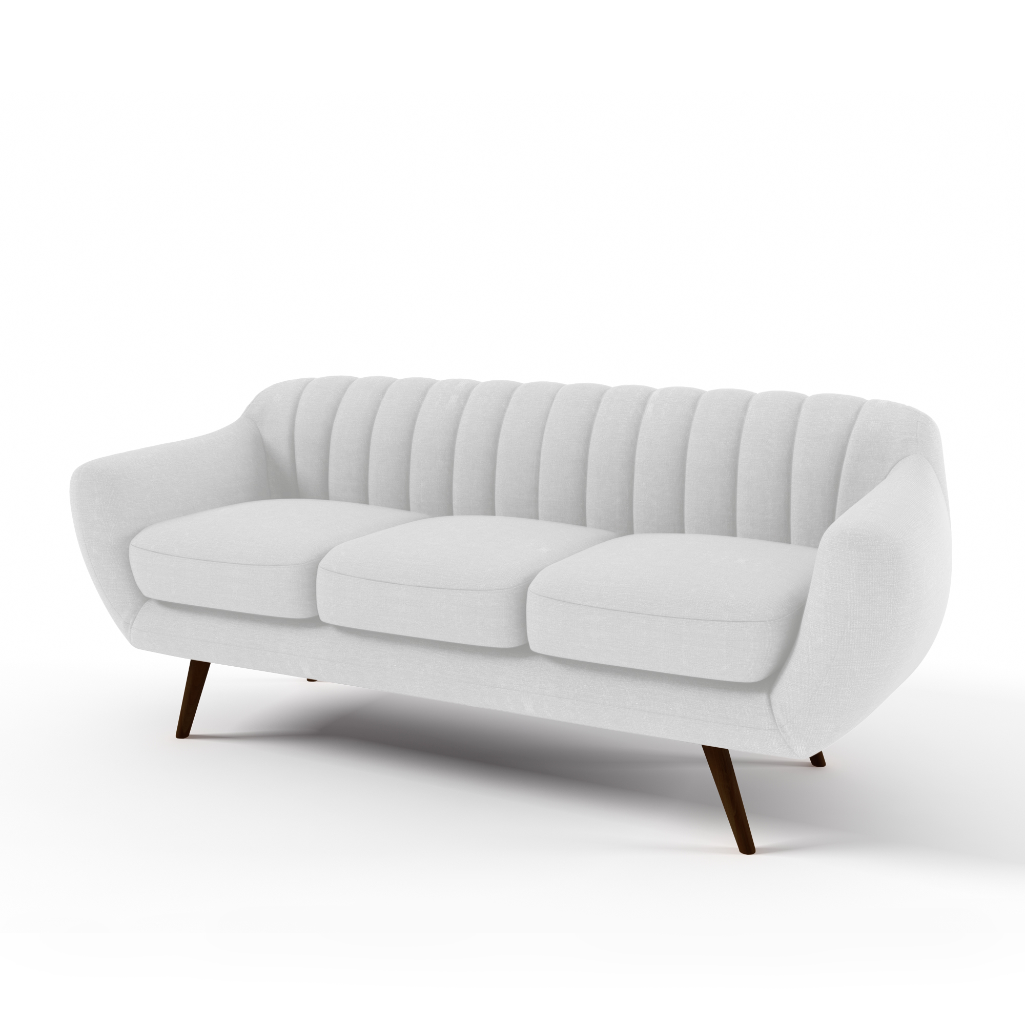 Canapea Fixa 3 locuri Kennet Pastel Grey