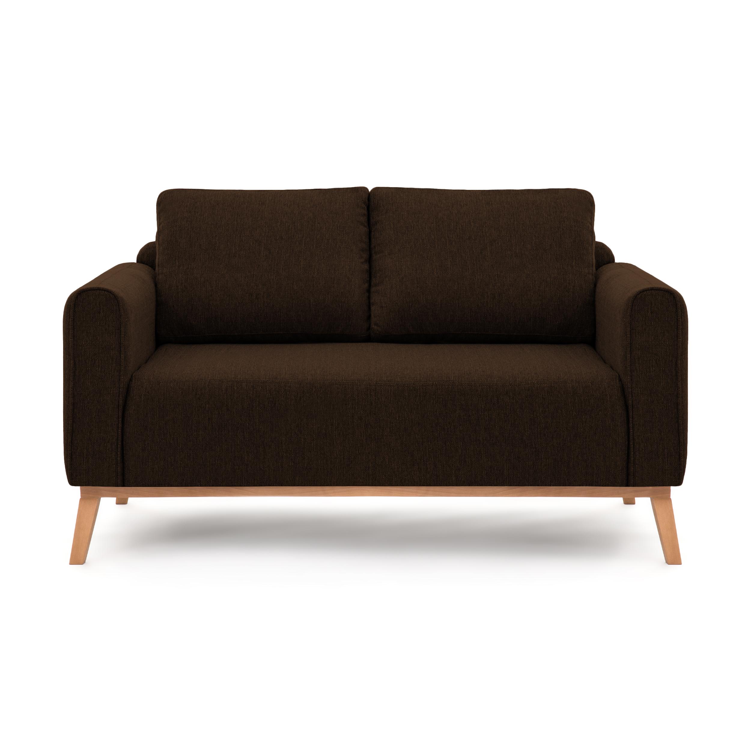 Canapea Fixa 2 locuri Milton Dark Brown