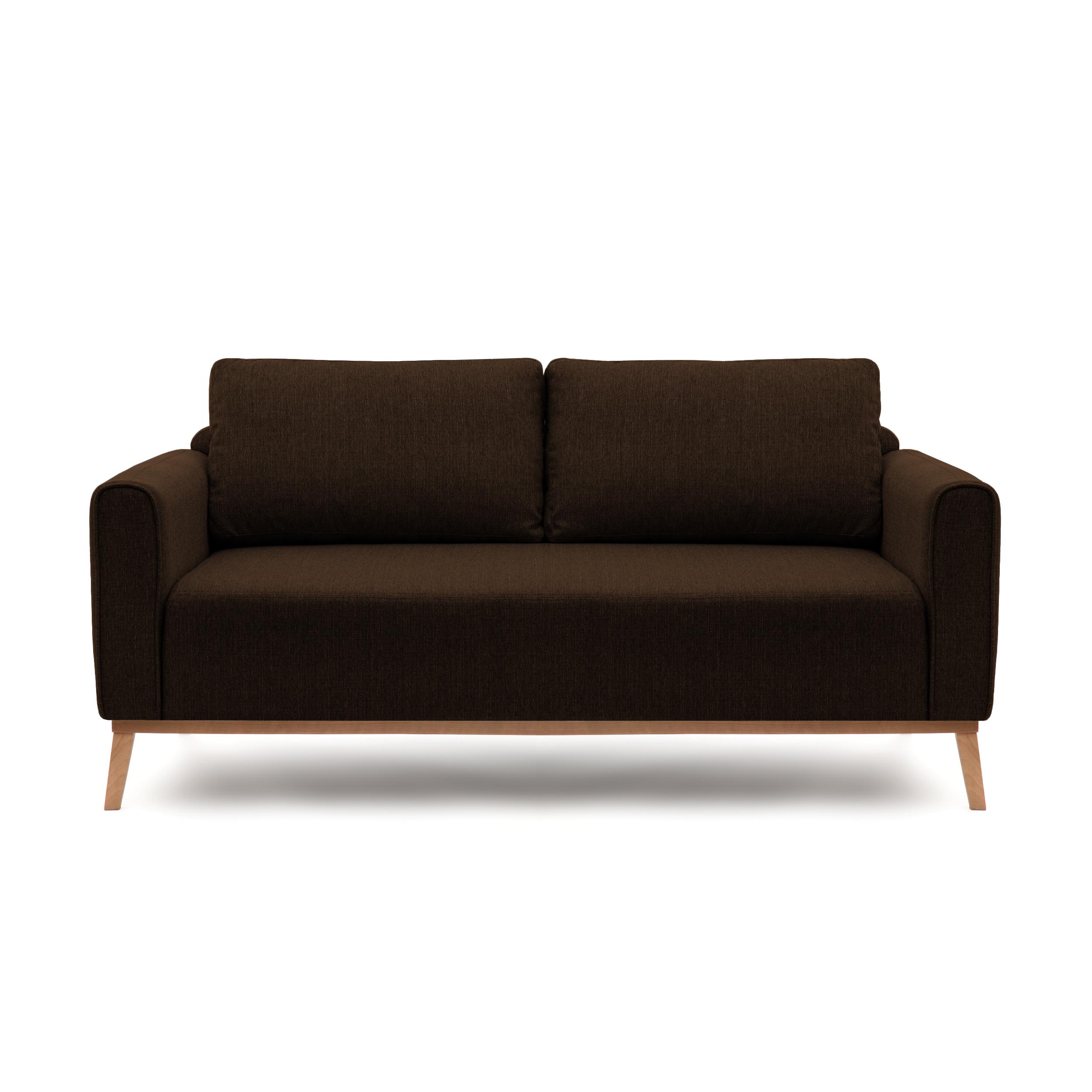 Canapea Fixa 3 locuri Milton Dark Brown