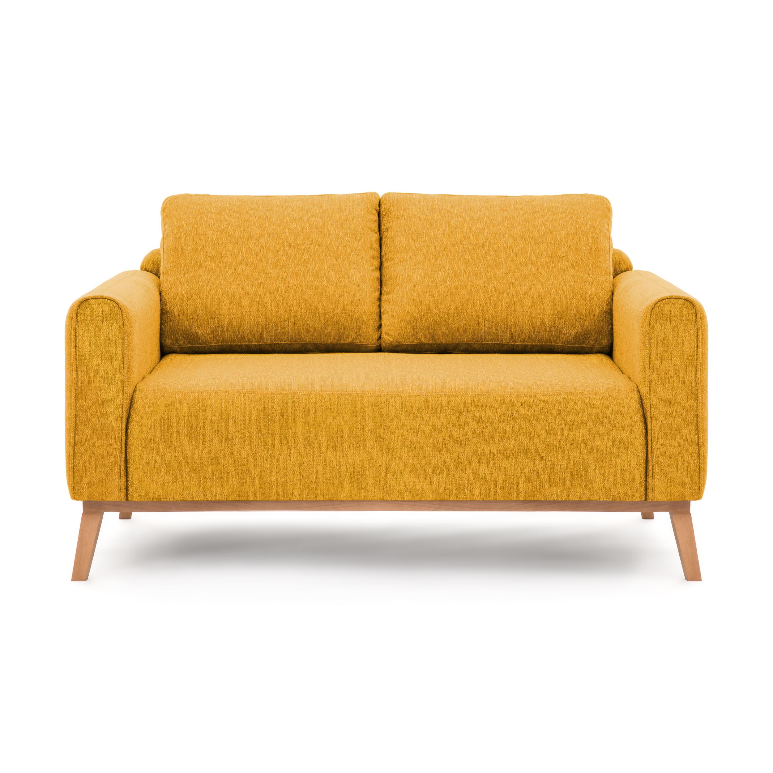 Canapea Fixa 2 locuri Milton Mustard