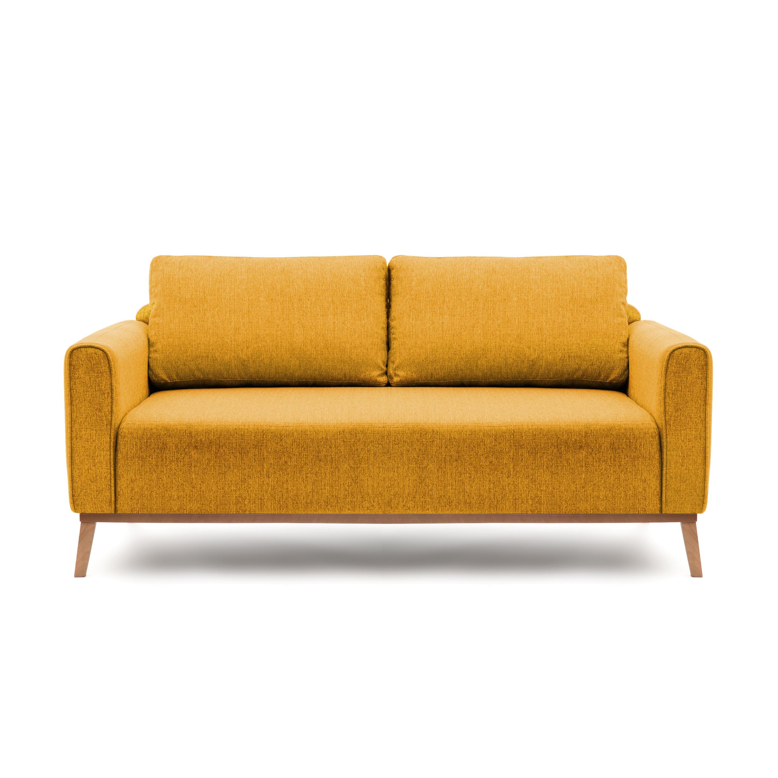 Canapea Fixa 3 locuri Milton Mustard