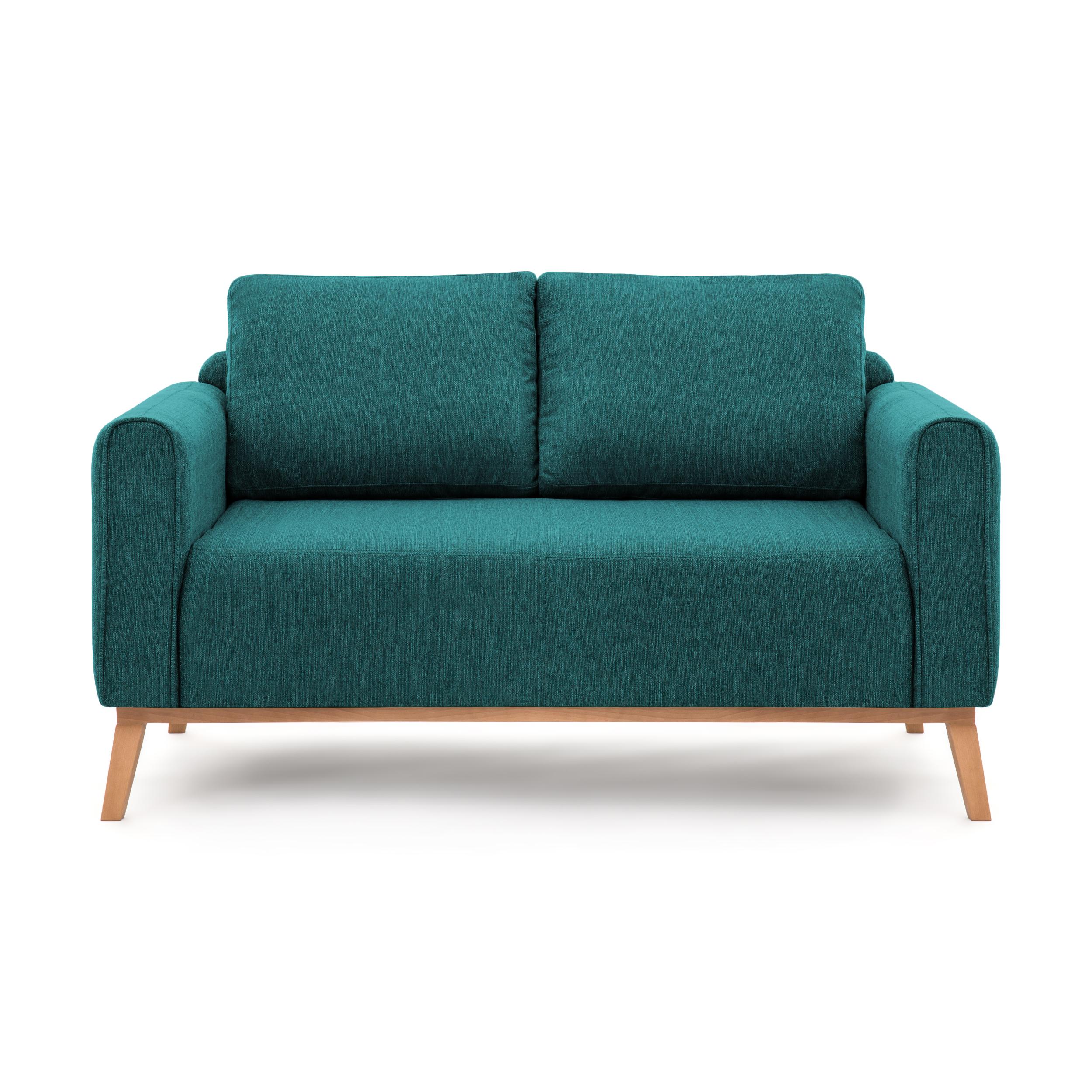 Canapea Fixa 2 Locuri Milton Turquoise
