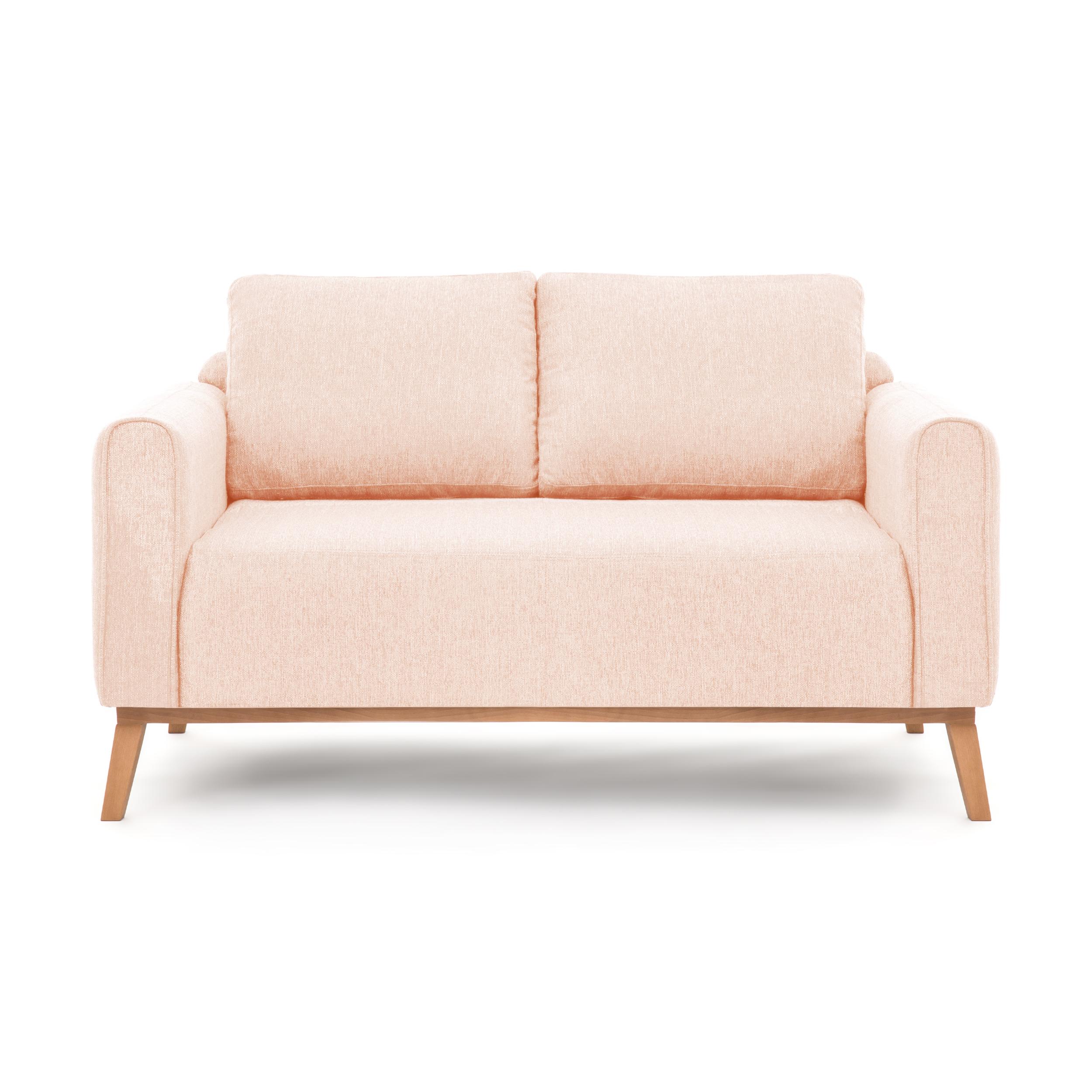 Canapea Fixa 2 locuri Milton Light Pink