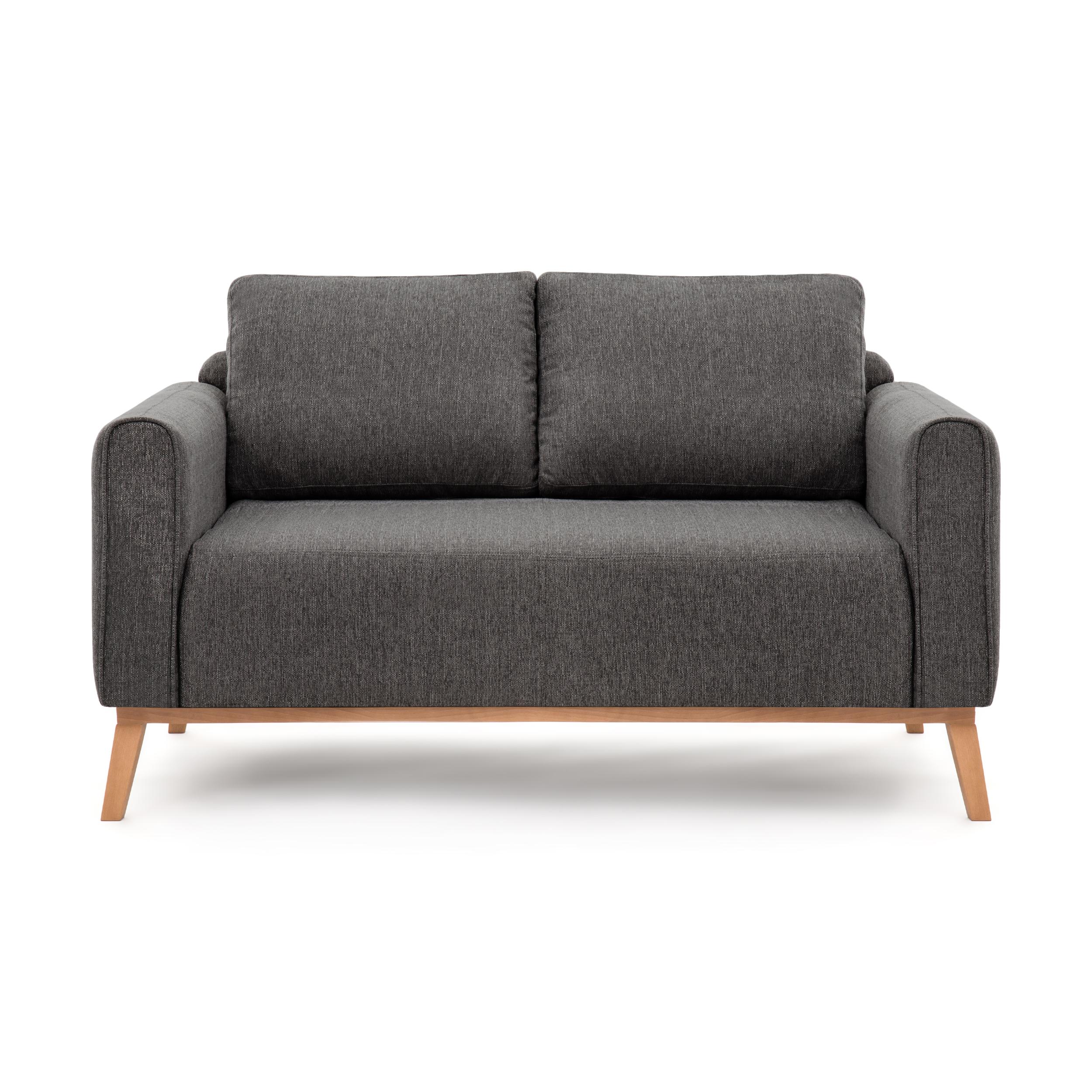 Canapea Fixa 2 locuri Milton Anthracite