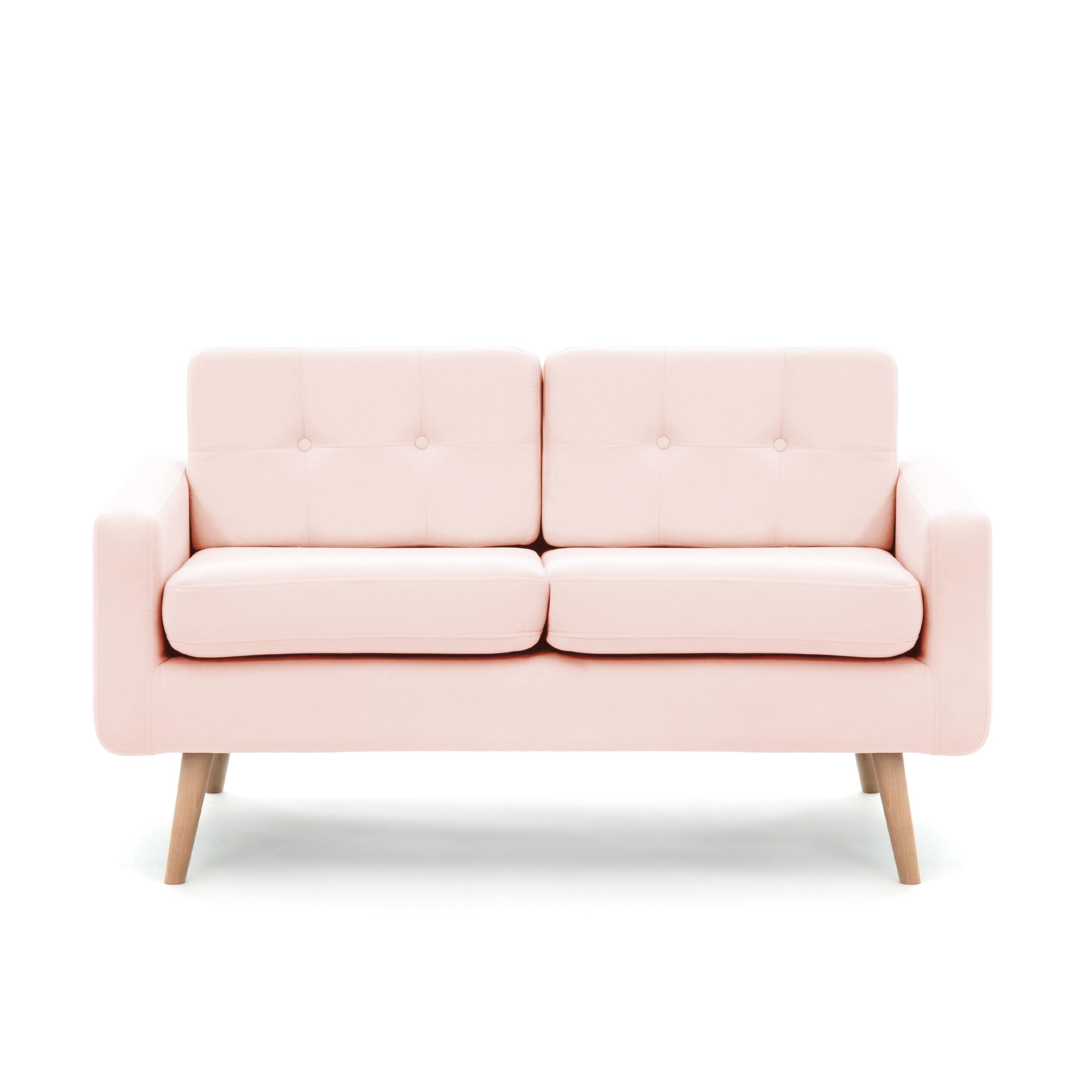 Canapea Fixa 2 locuri Ina Pastel Pink