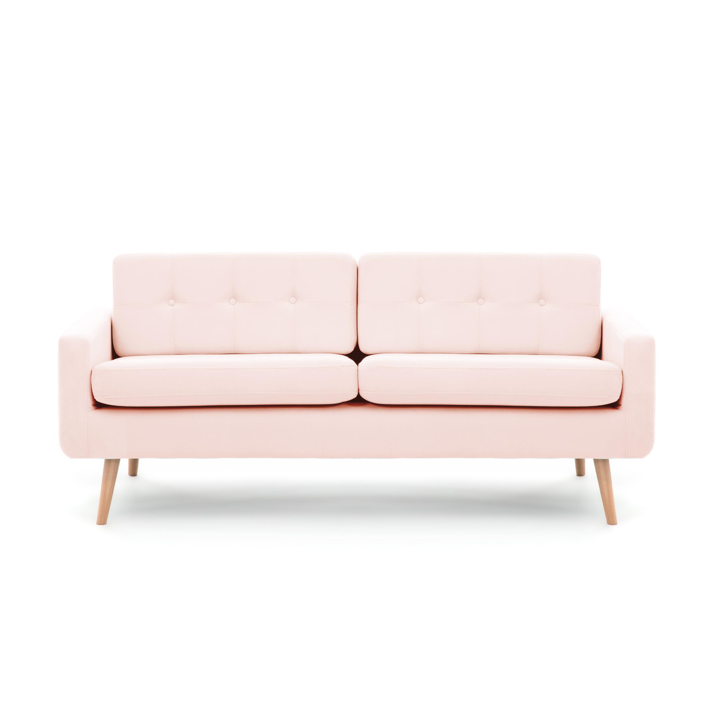 Canapea Fixa 3 locuri Ina Pastel Pink