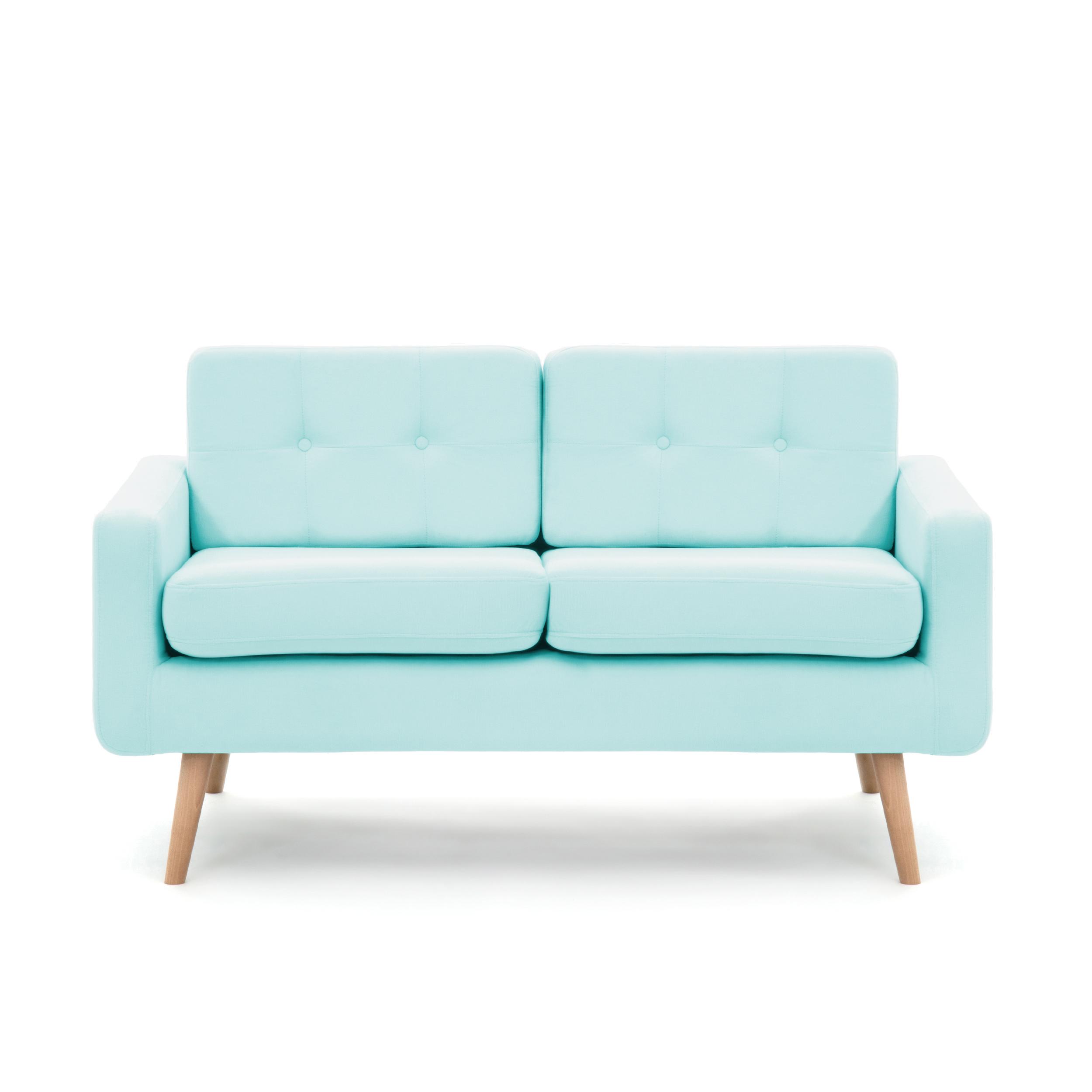 Canapea Fixa 2 locuri Ina Pastel Blue