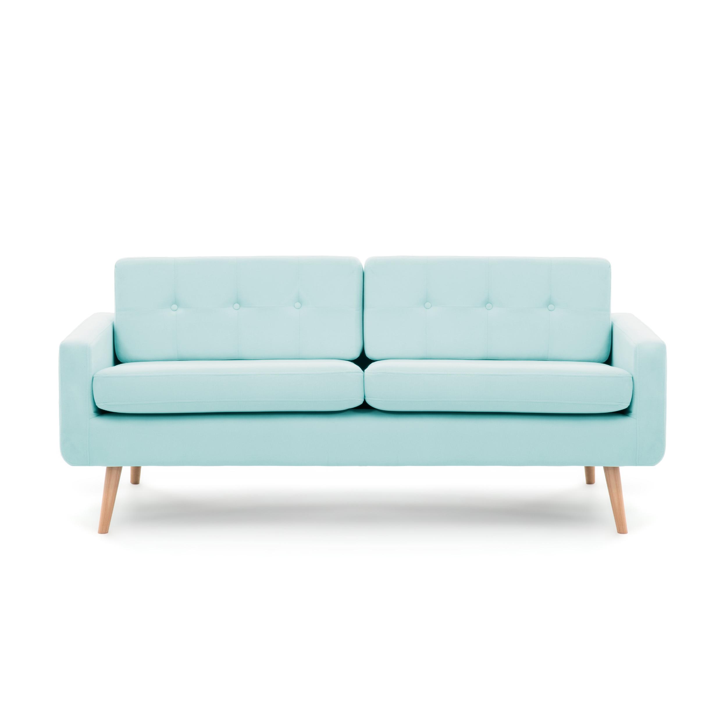 Canapea Fixa 3 Locuri Ina Pastel Blue