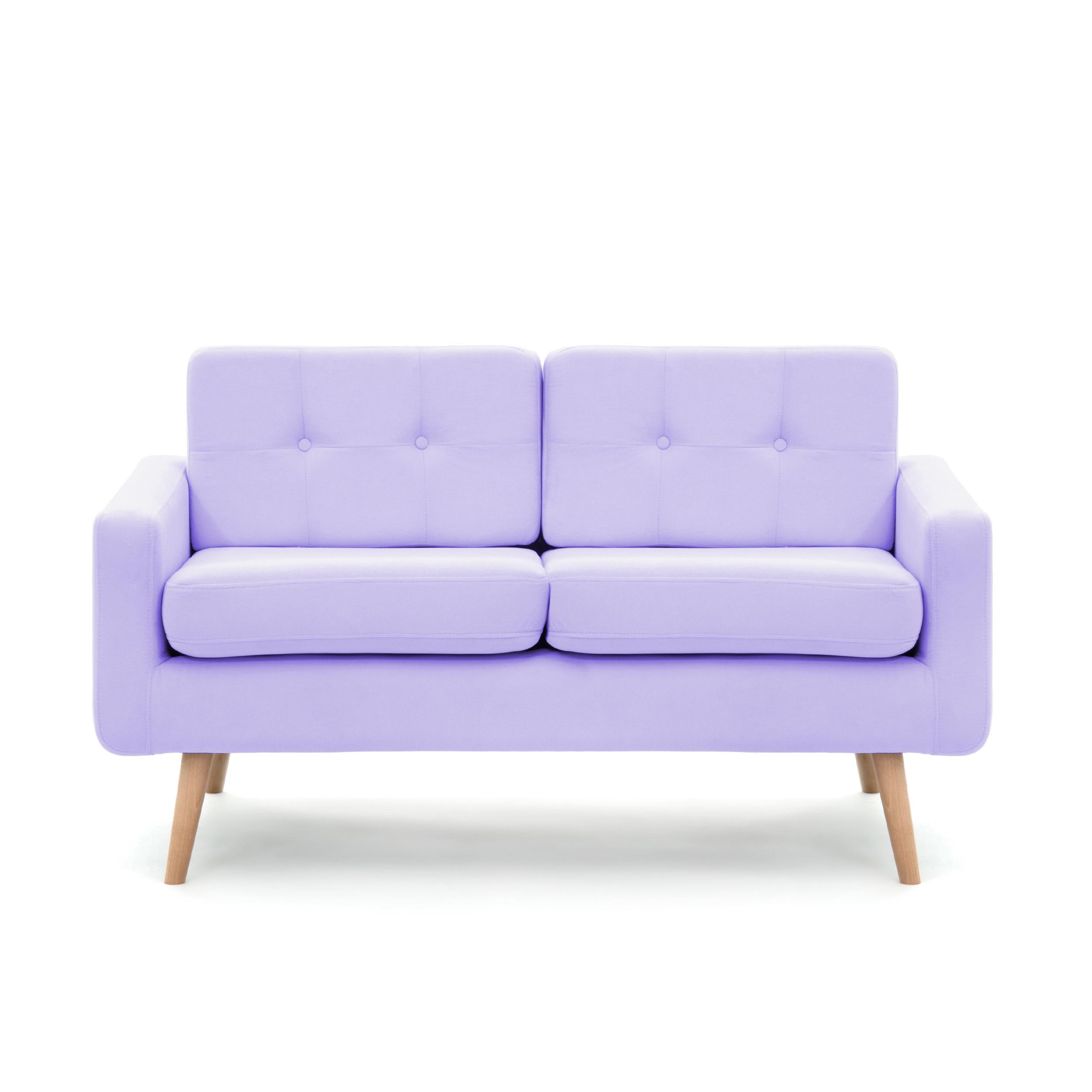 Canapea Fixa 2 locuri Ina Pastel Purple