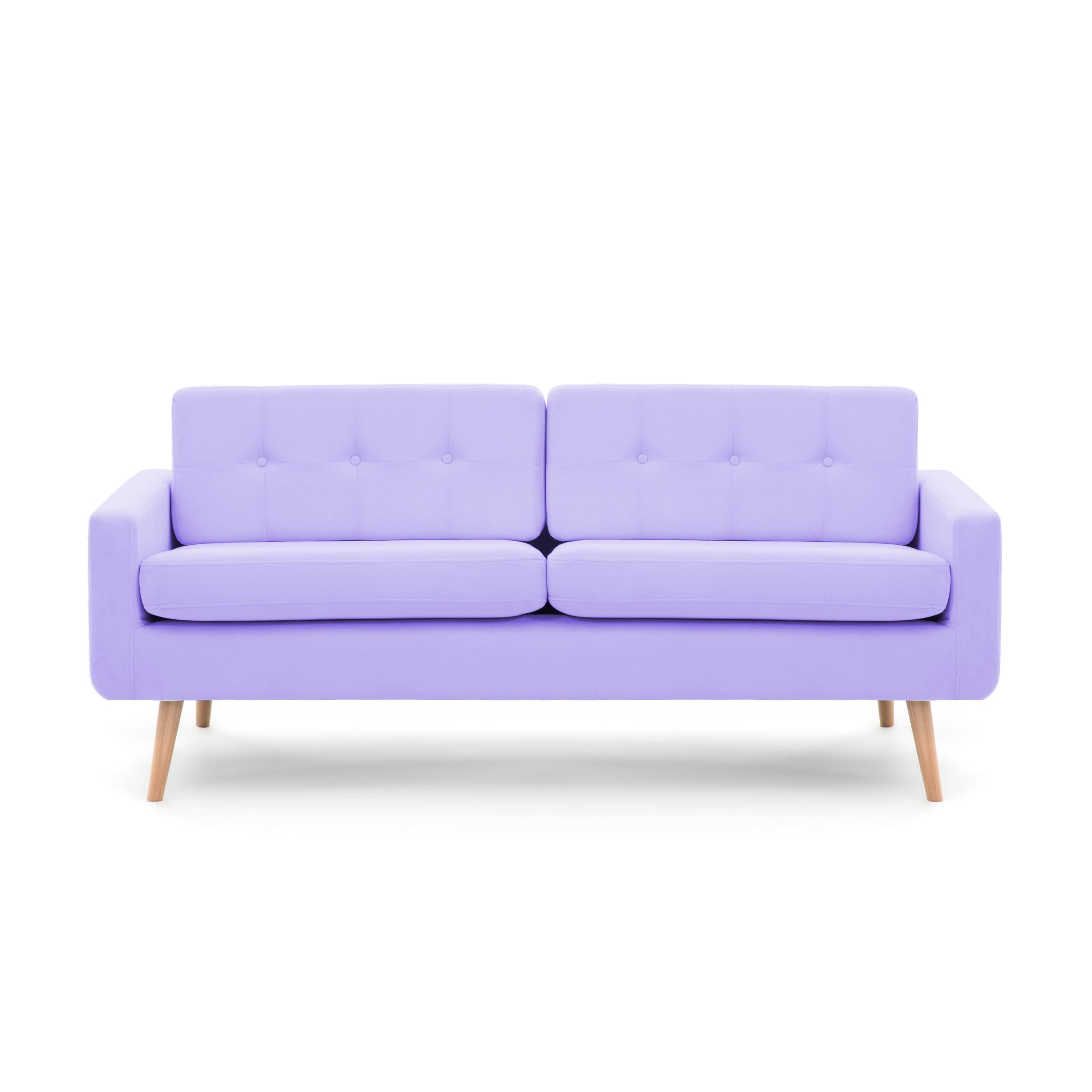Canapea Fixa 3 locuri Ina Pastel Purple