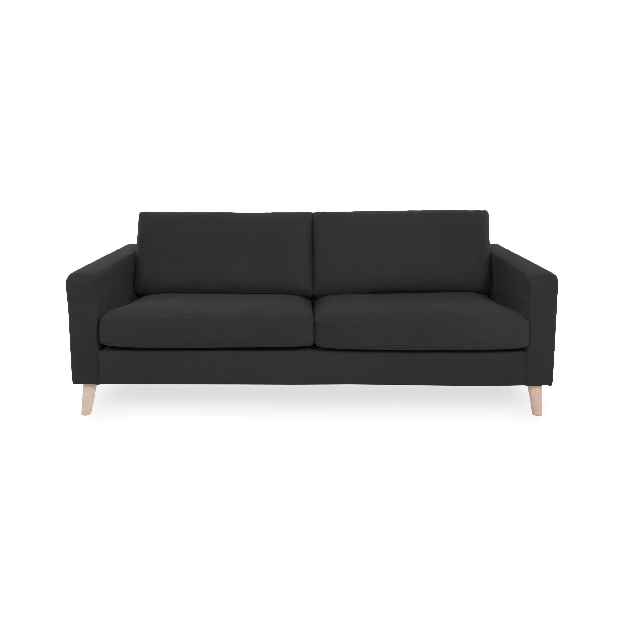 Canapea Fixa 3 locuri Tom Antracit/Natural