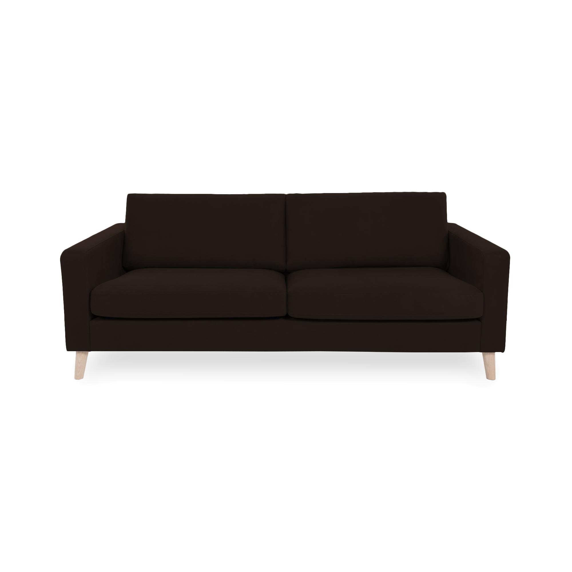 Canapea Fixa 3 locuri Tom Brown/Natural