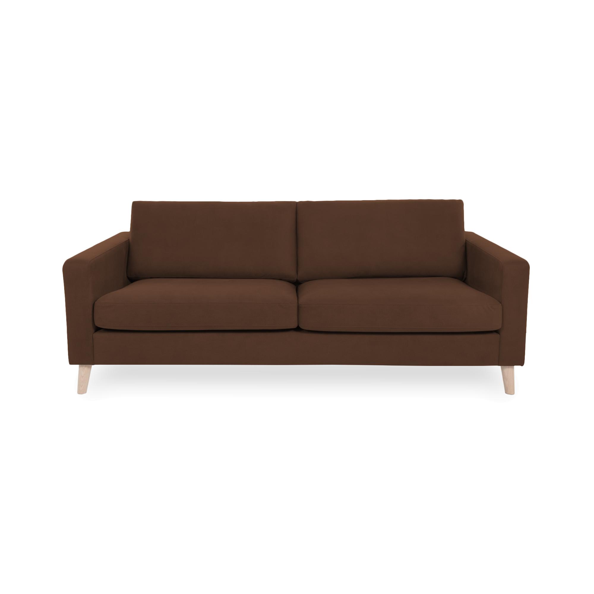 Canapea Fixa 3 locuri Tom Cognac/Natural