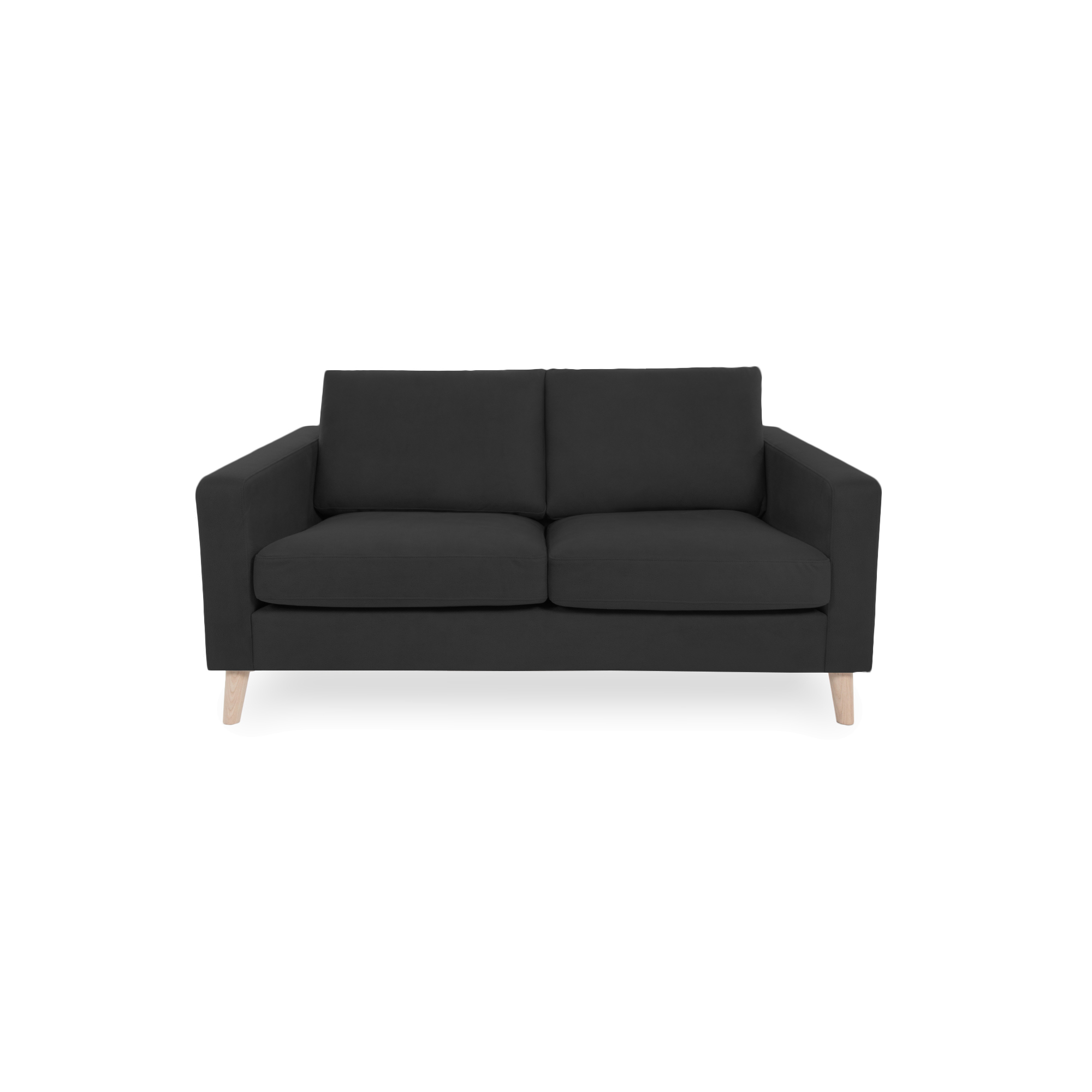 Canapea Fixa 2 locuri Tom Antracit/Natural