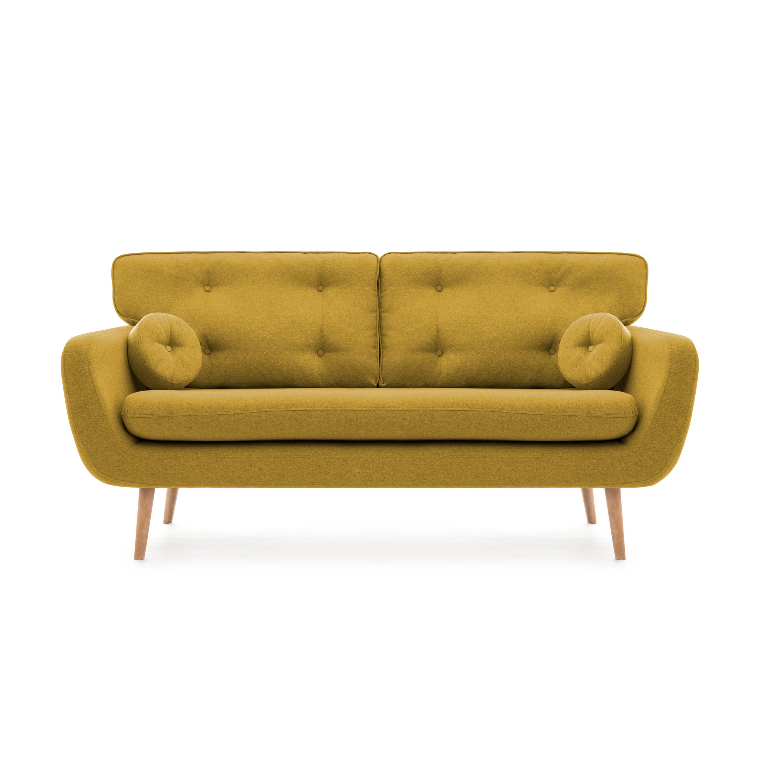 Canapea Fixa 3 locuri Malva Lemon