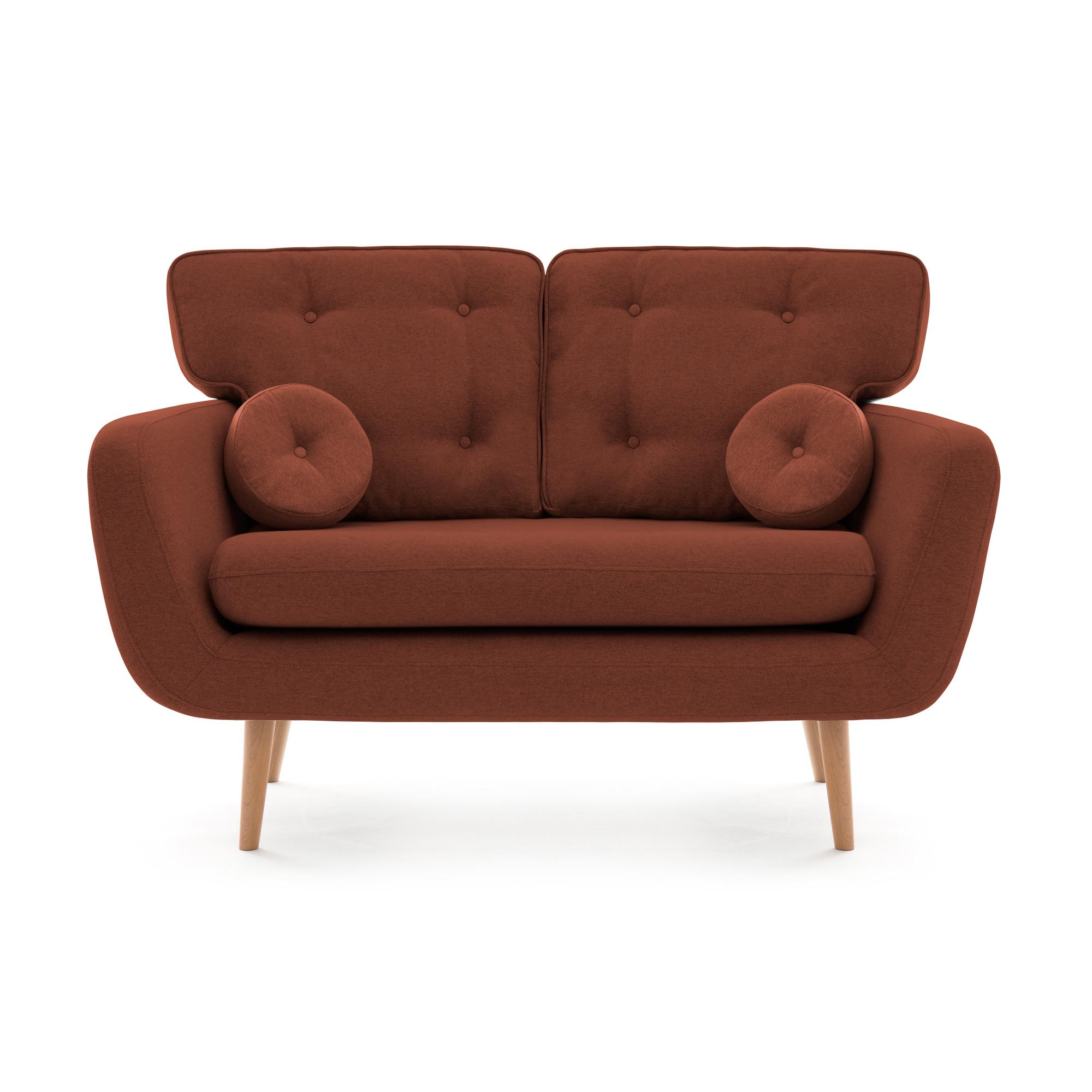 Canapea Fixa 2 locuri Malva Marsala