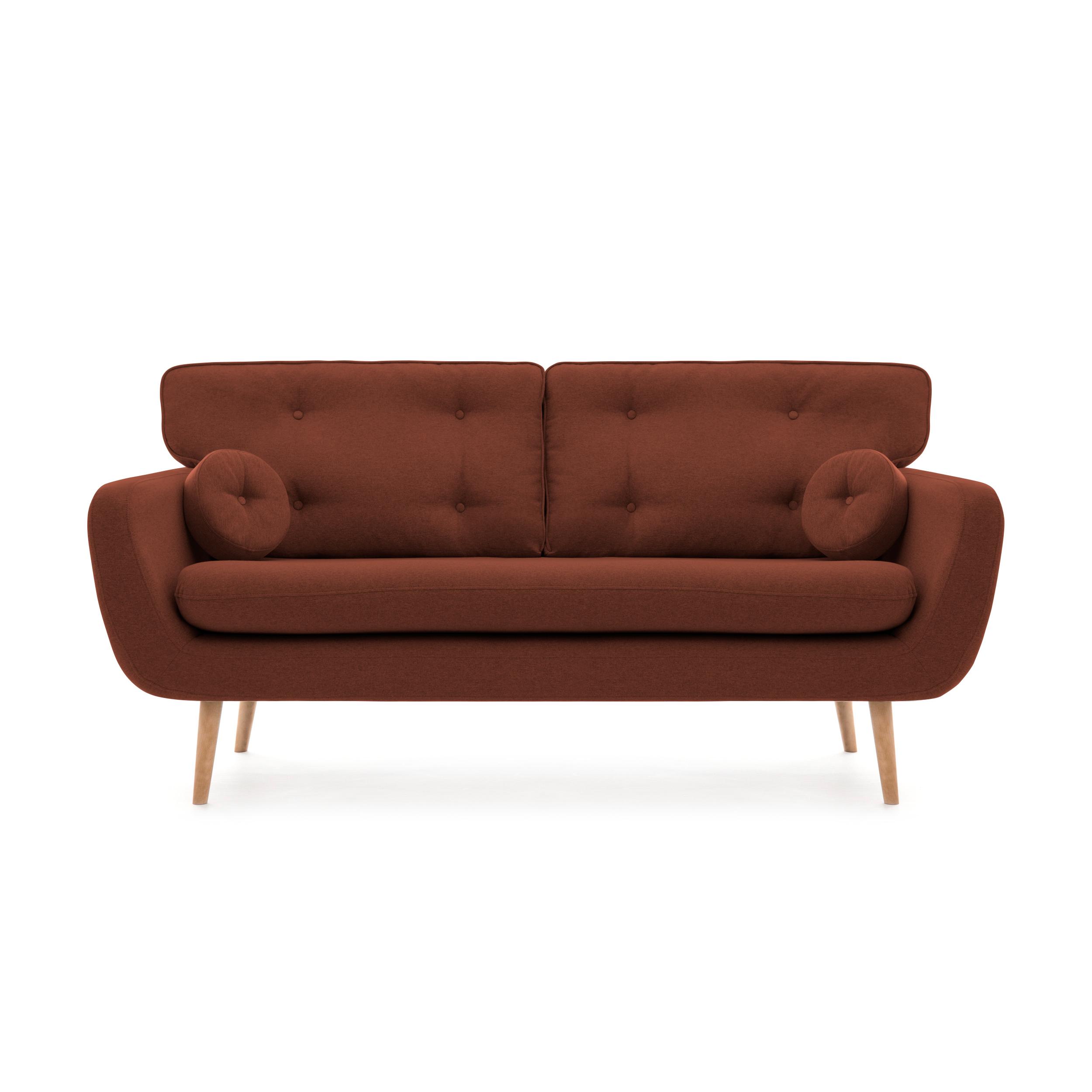 Canapea Fixa 3 locuri Malva Marsala