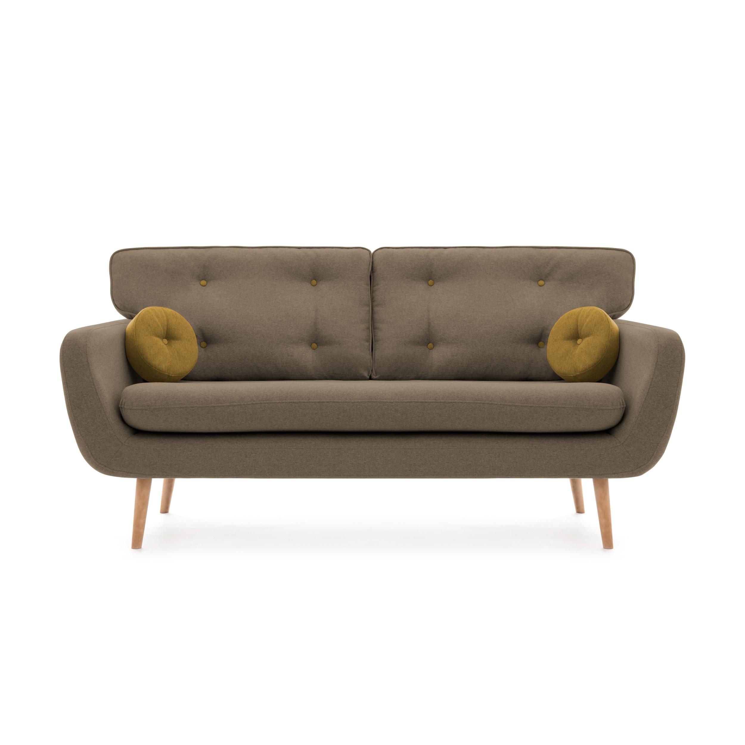 Canapea Fixa 3 locuri Malva Beige