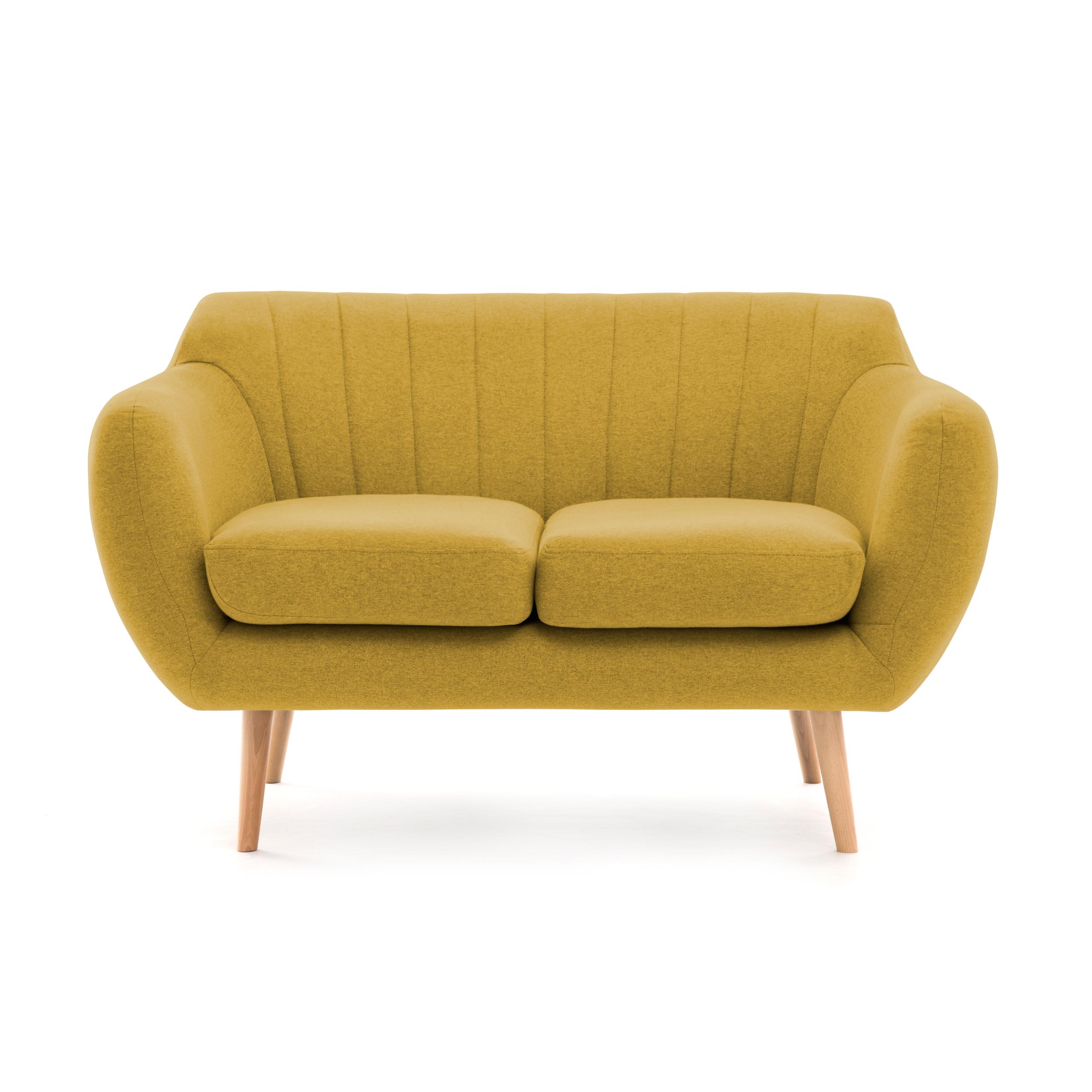 Canapea Fixa 2 locuri Kennet Lemon